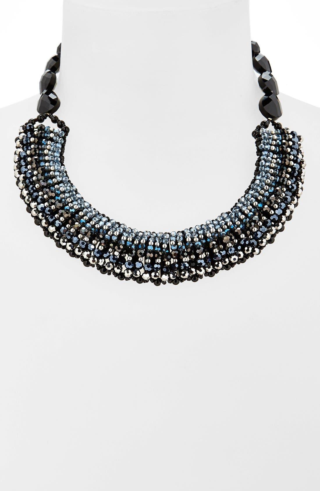 'Half Line Couture' Collar Necklace,                             Alternate thumbnail 5, color,