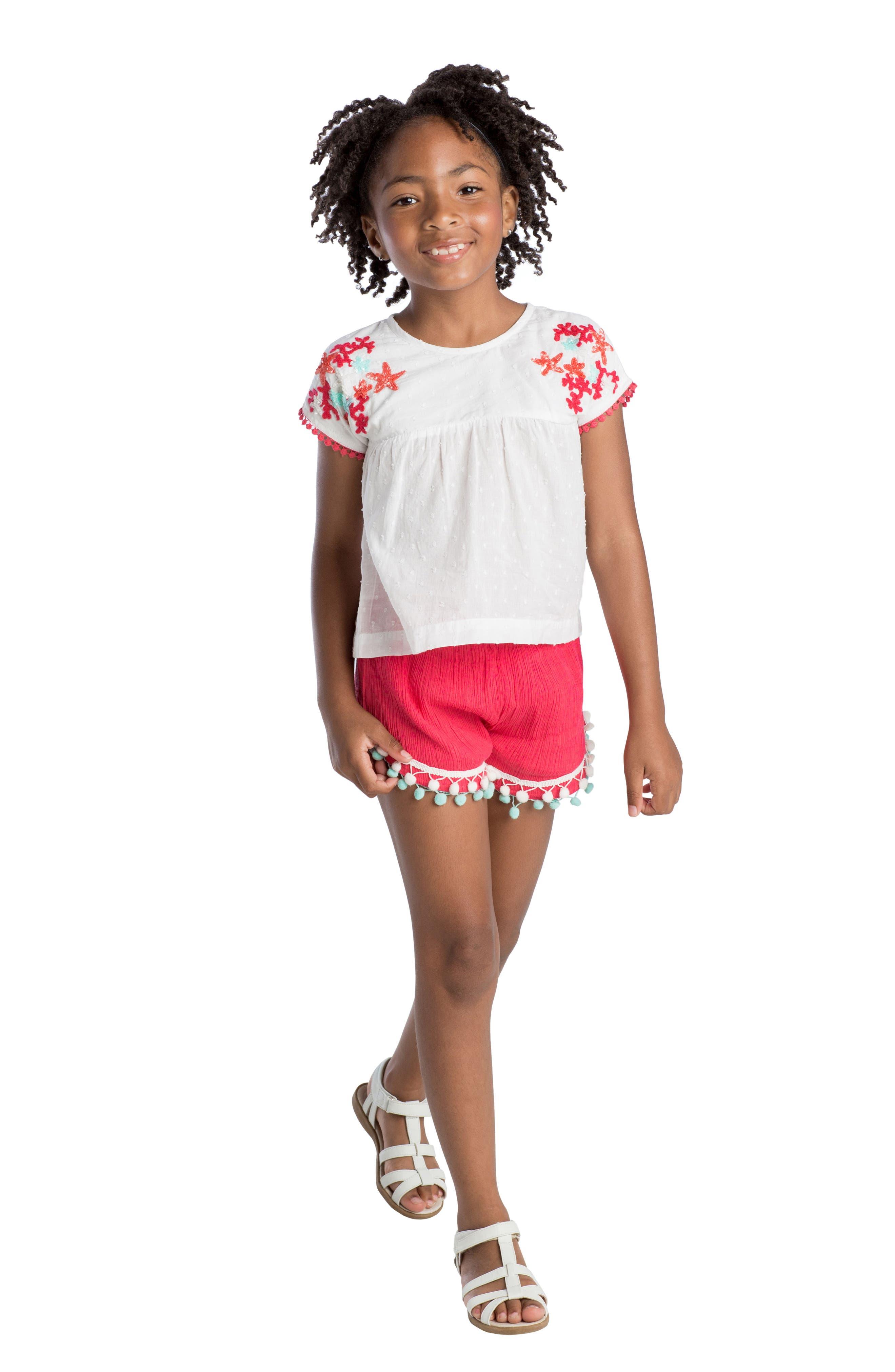 Pompom Shorts,                             Alternate thumbnail 3, color,                             600