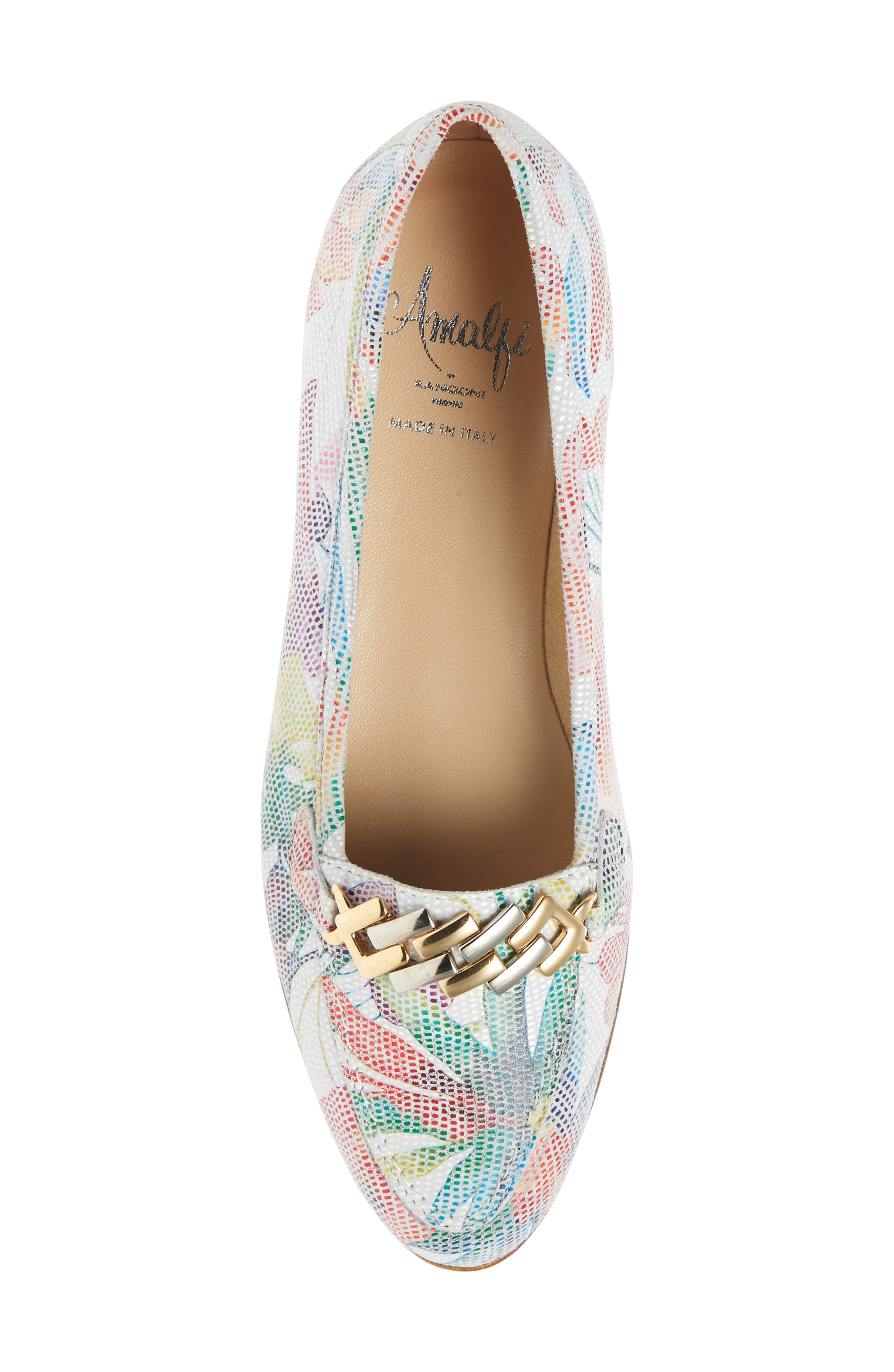 AMALFI BY RANGONI,                             Oste Loafer,                             Alternate thumbnail 5, color,                             WHITE LEATHER