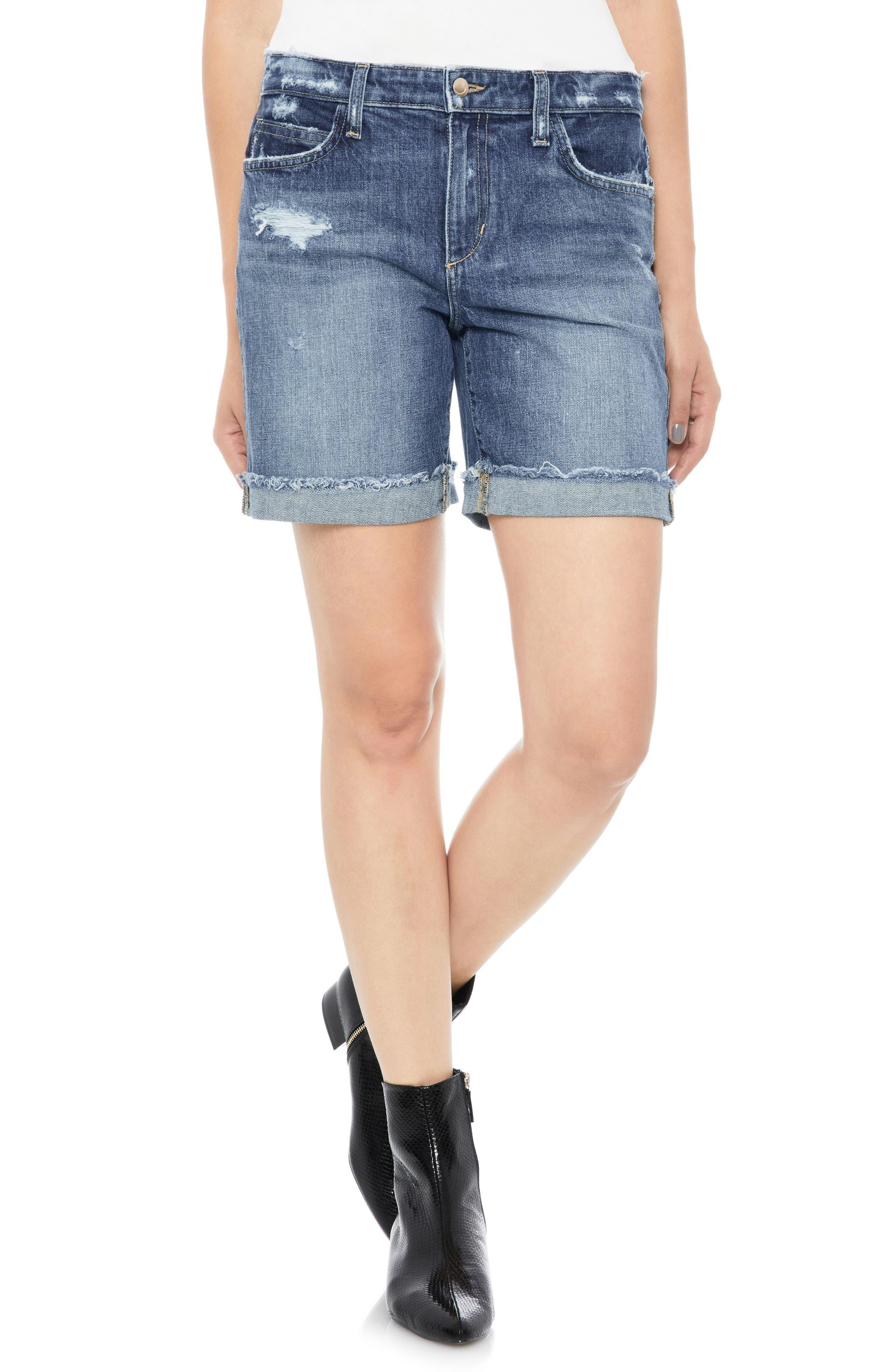 Cuff Denim Bermuda Shorts,                         Main,                         color, 420