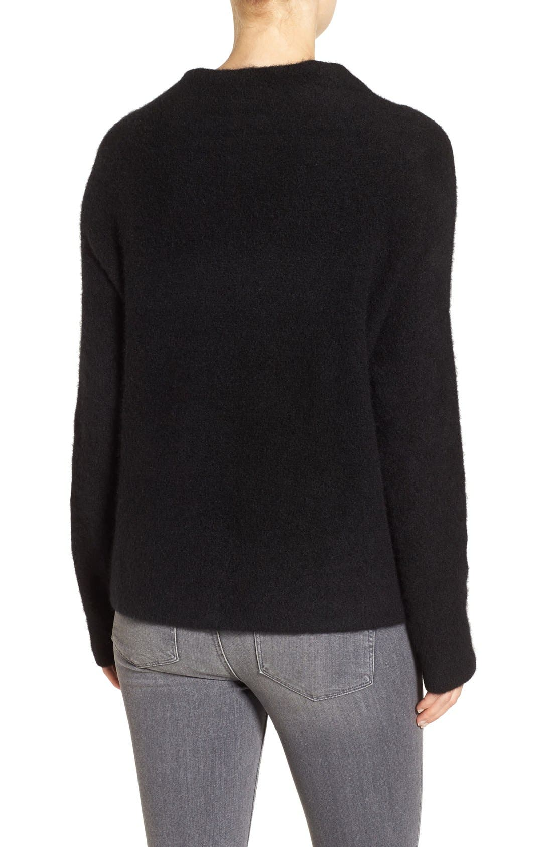 'Bouclé Bliss' Cashmere & Silk Blend Funnel Neck Sweater,                             Alternate thumbnail 6, color,