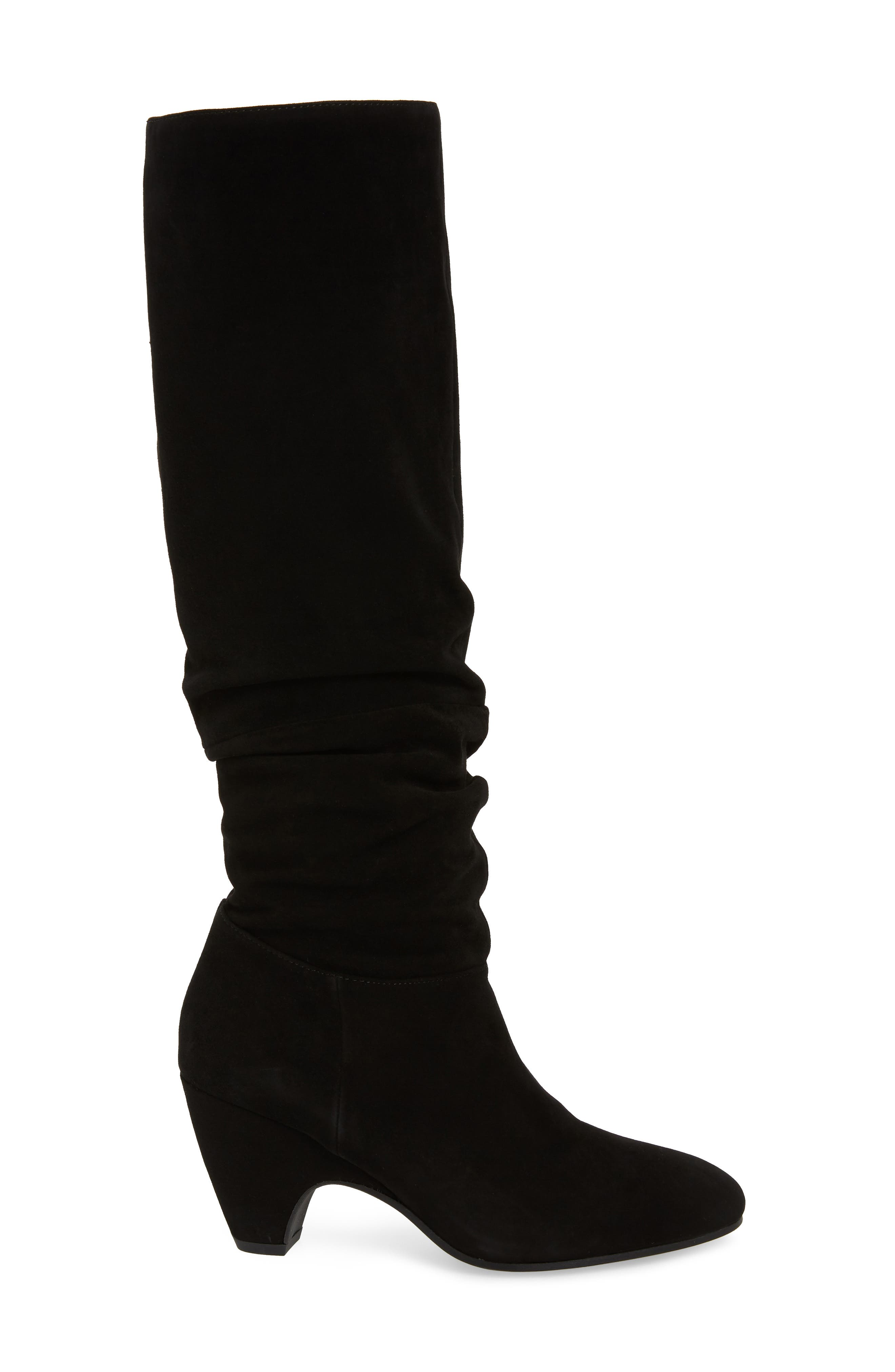 Ditto Knee High Boot,                             Alternate thumbnail 3, color,                             BLACK SUEDE