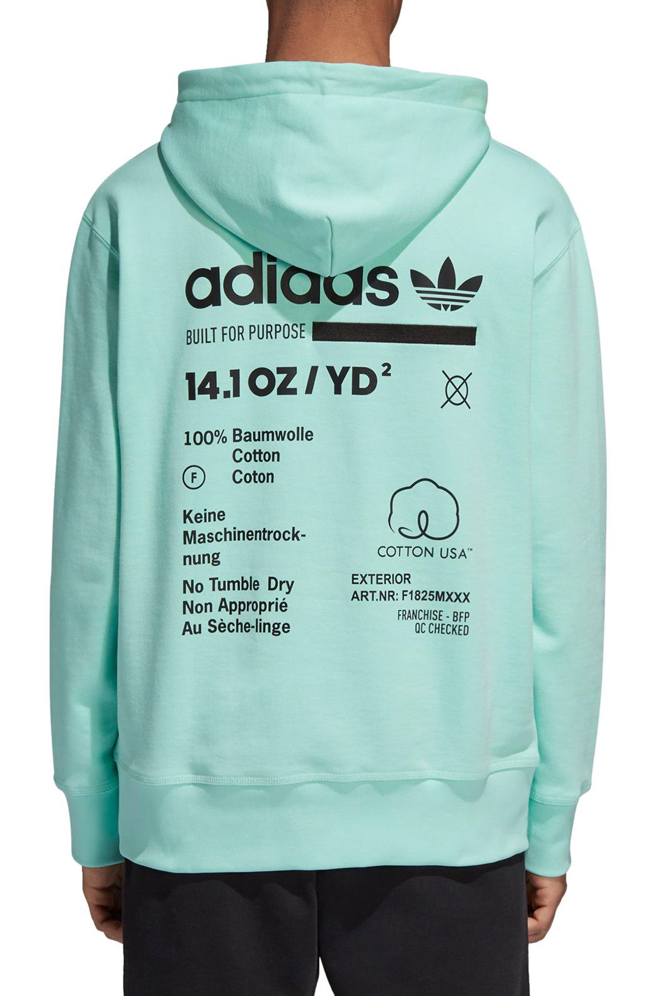 Kaval Hoodie,                             Alternate thumbnail 2, color,                             CLEAR MINT