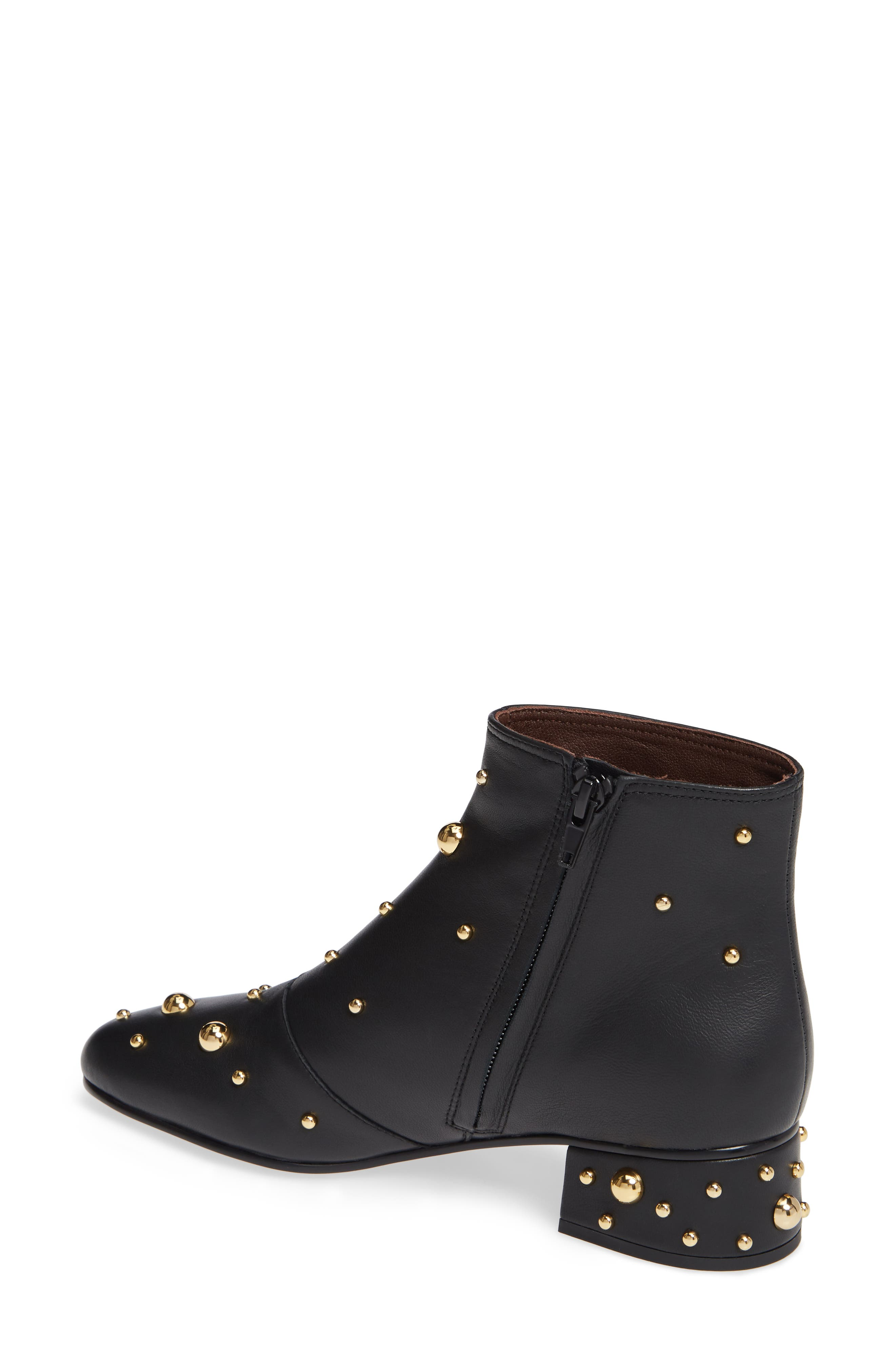 SEE BY CHLOÉ,                             Abby Studded Bootie,                             Alternate thumbnail 2, color,                             001