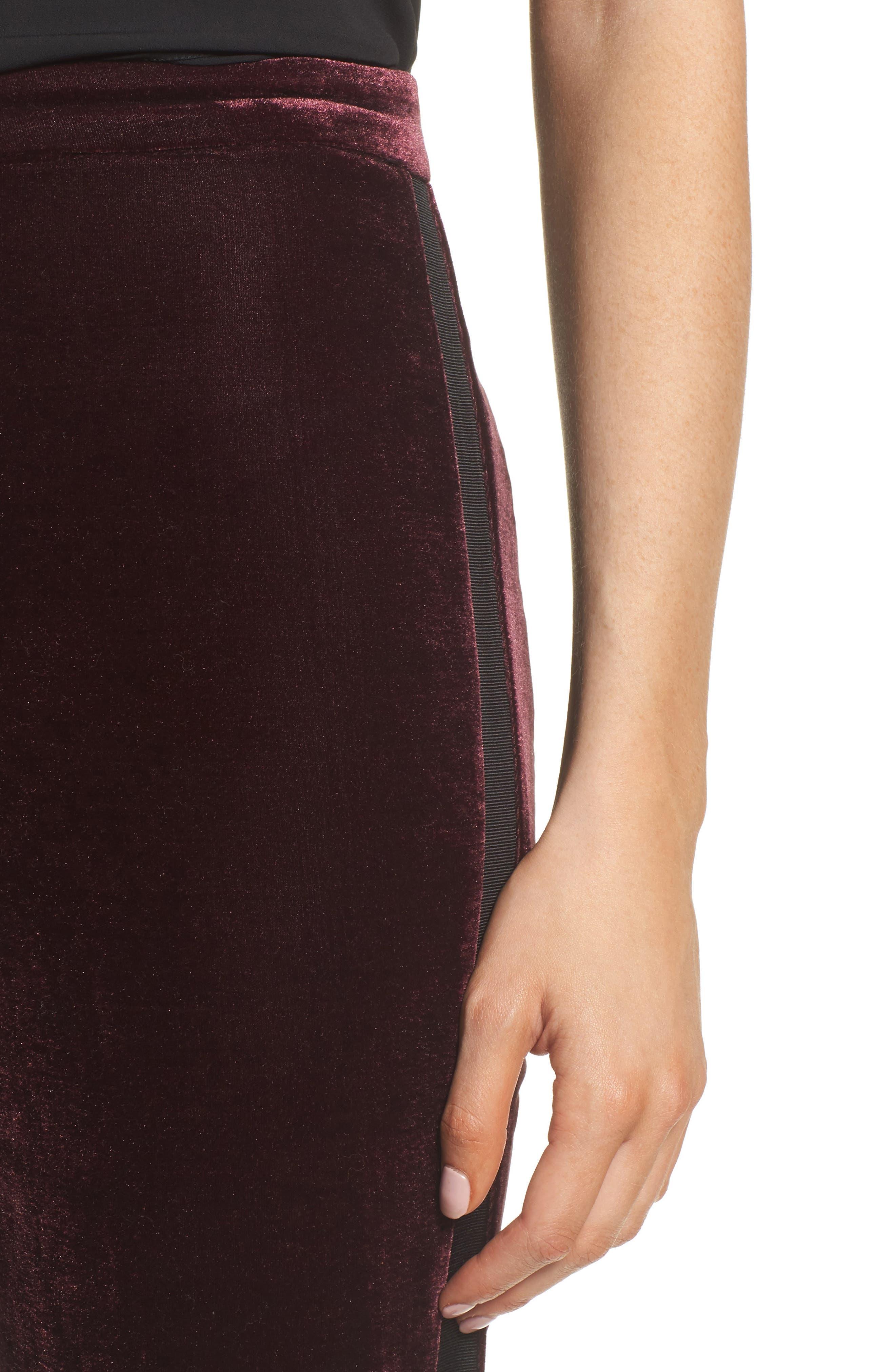 Evalina Velvet Crop Skinny Pants,                             Alternate thumbnail 8, color,
