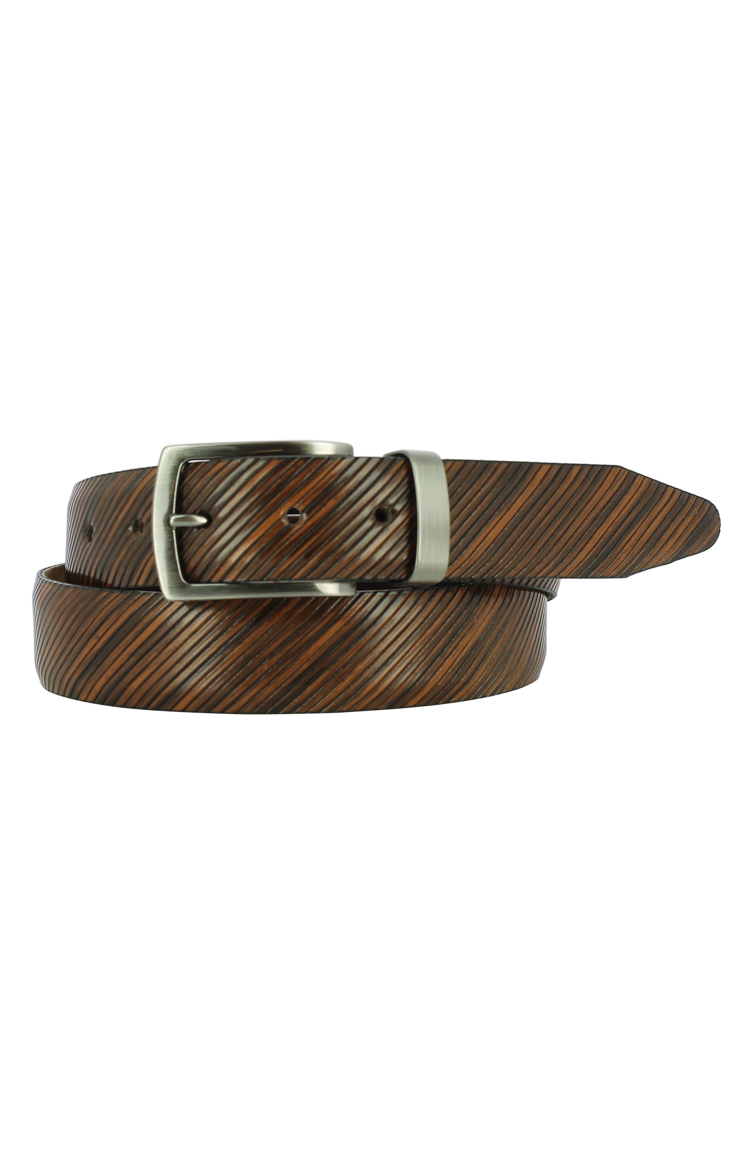 Sylvio Leather Belt,                             Main thumbnail 1, color,                             TAN