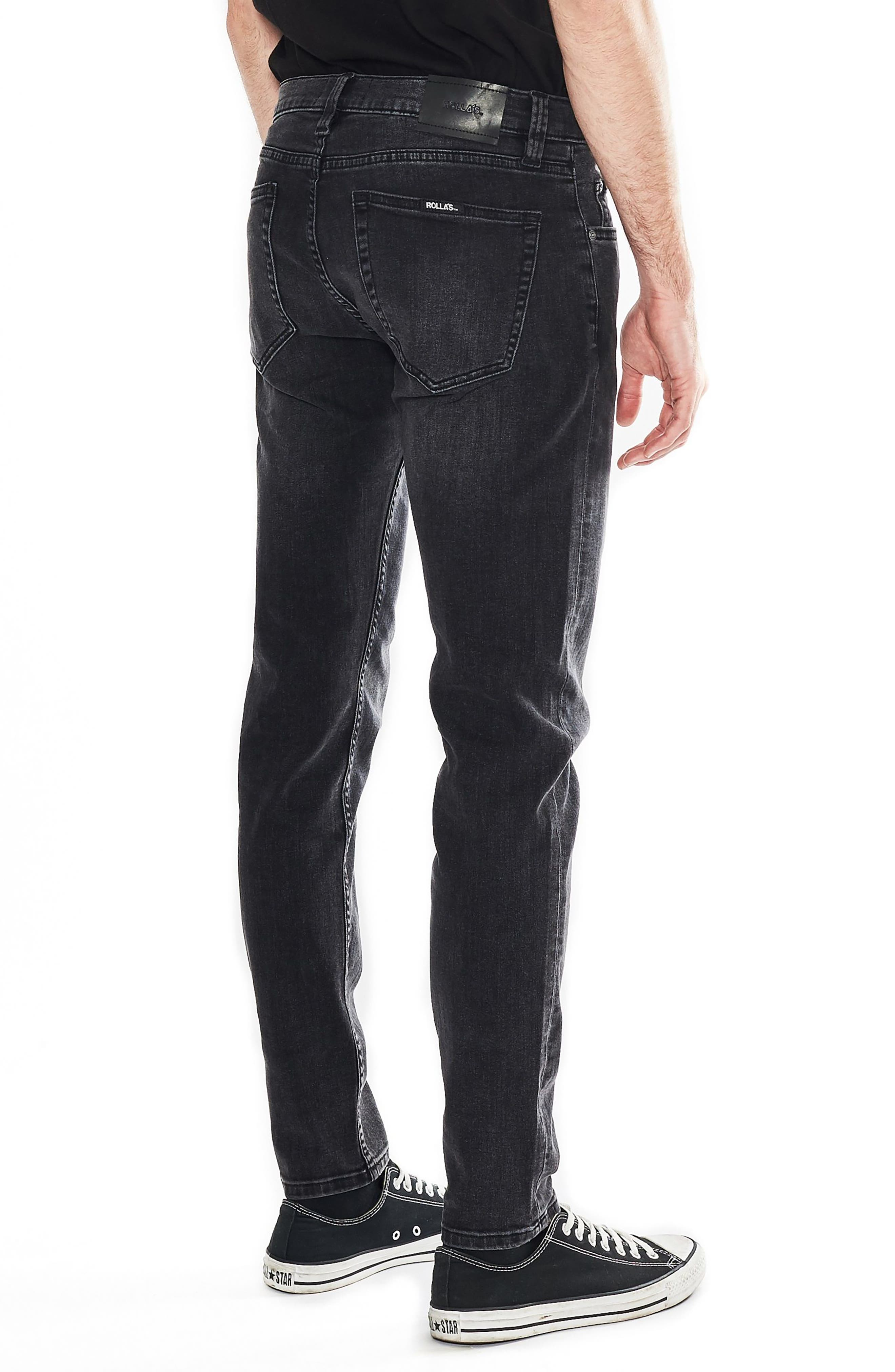 Stinger Skinny Fit Jeans,                             Alternate thumbnail 4, color,                             OLD GOLD