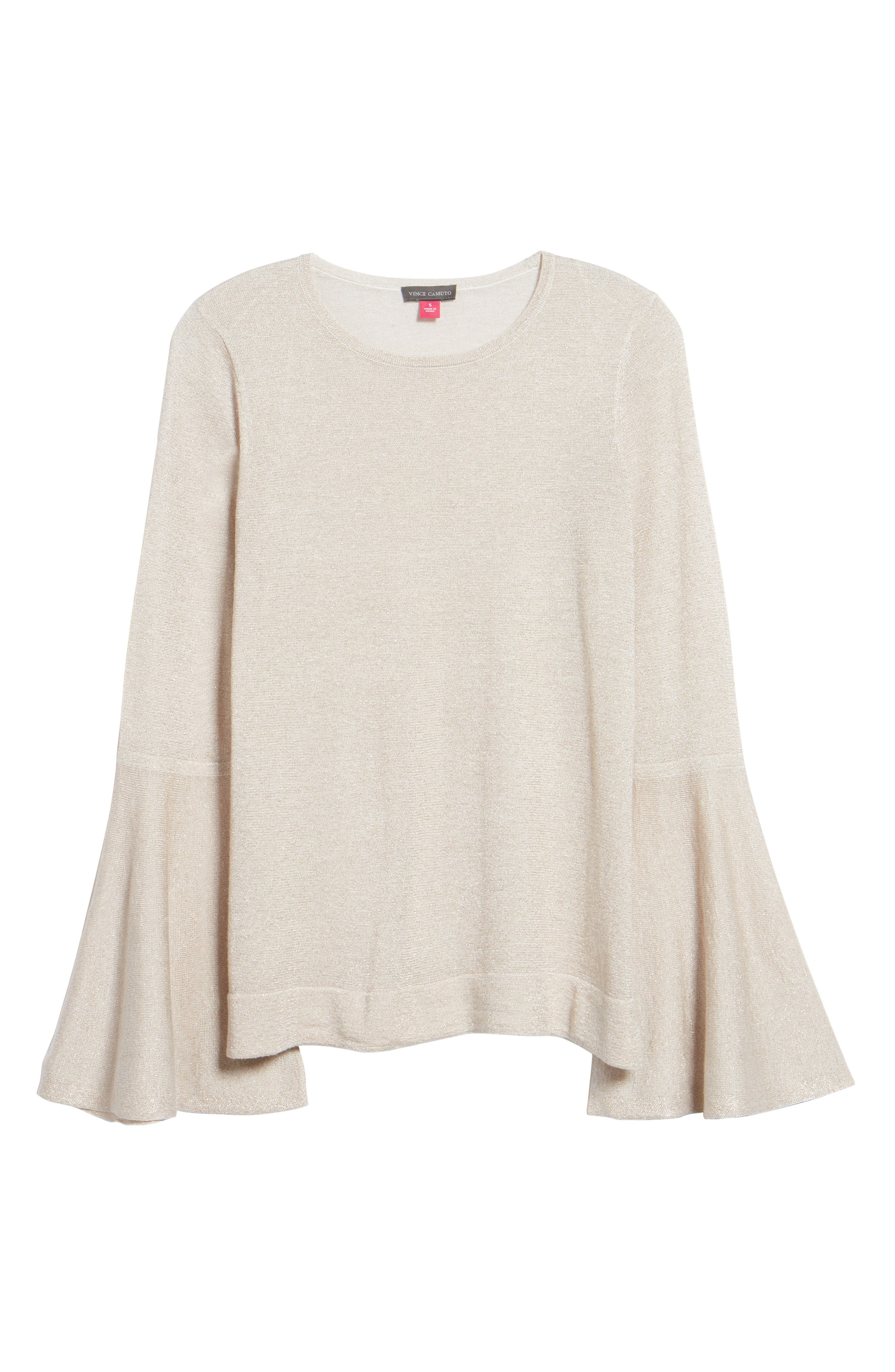 Bell Sleeve Sweater,                             Alternate thumbnail 19, color,