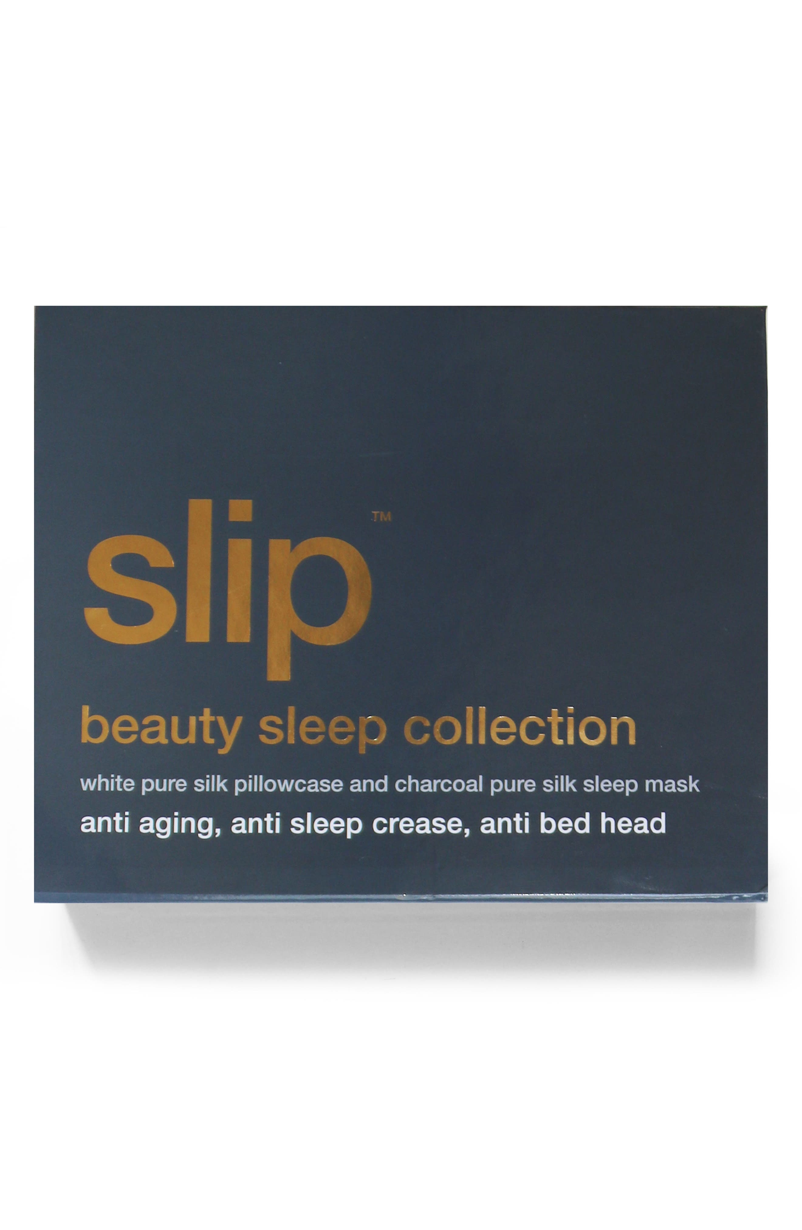 slip<sup>™</sup> for beauty sleep White & Charcoal Collection,                             Alternate thumbnail 3, color,                             WHITE/CHARCOAL