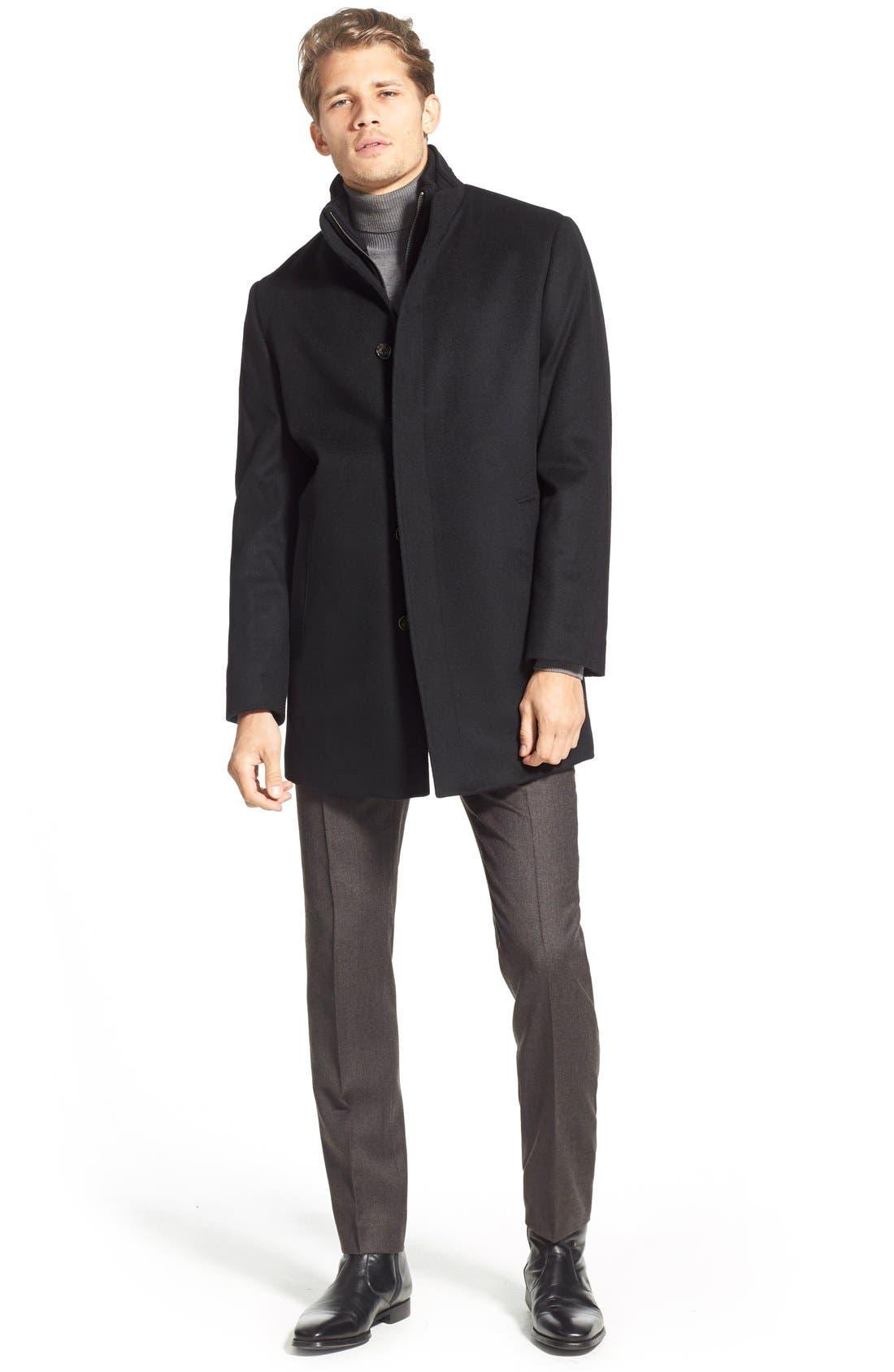 Wool Jacket,                             Alternate thumbnail 5, color,                             001