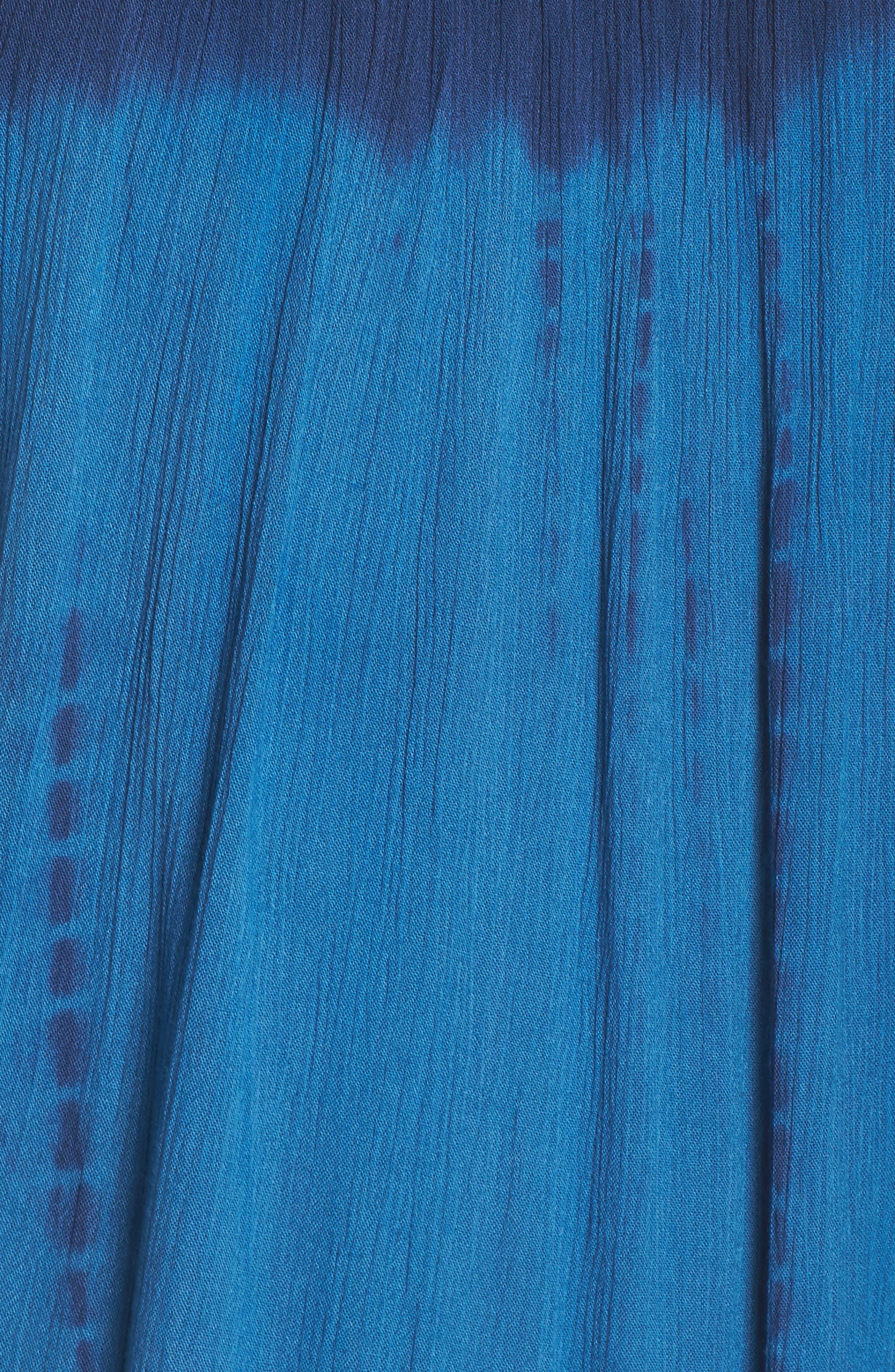 High Tide Pali Wrap Cover-Up Dress,                             Alternate thumbnail 5, color,                             400