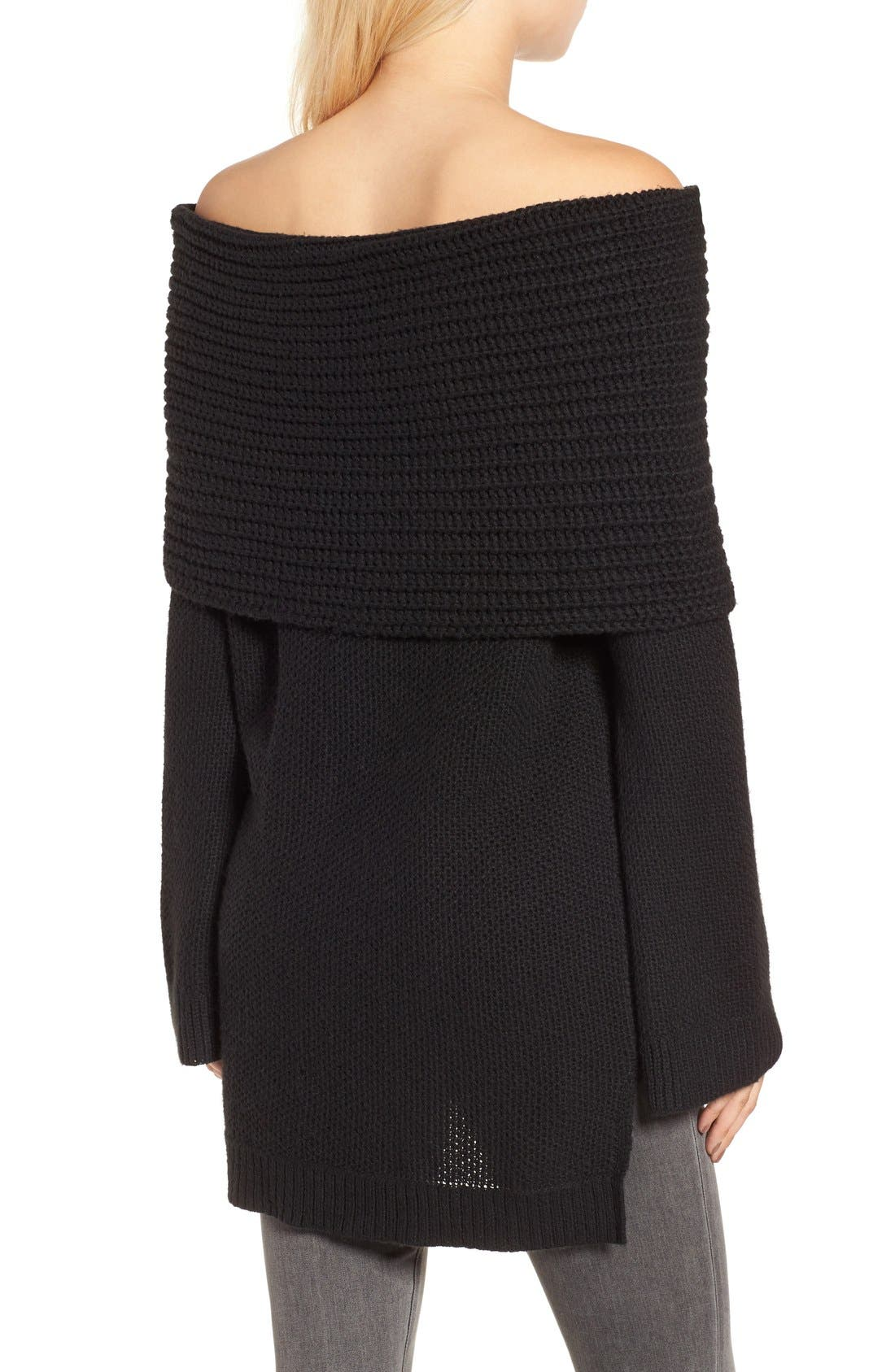 Cowl Off the Shoulder Sweater,                             Alternate thumbnail 2, color,                             001