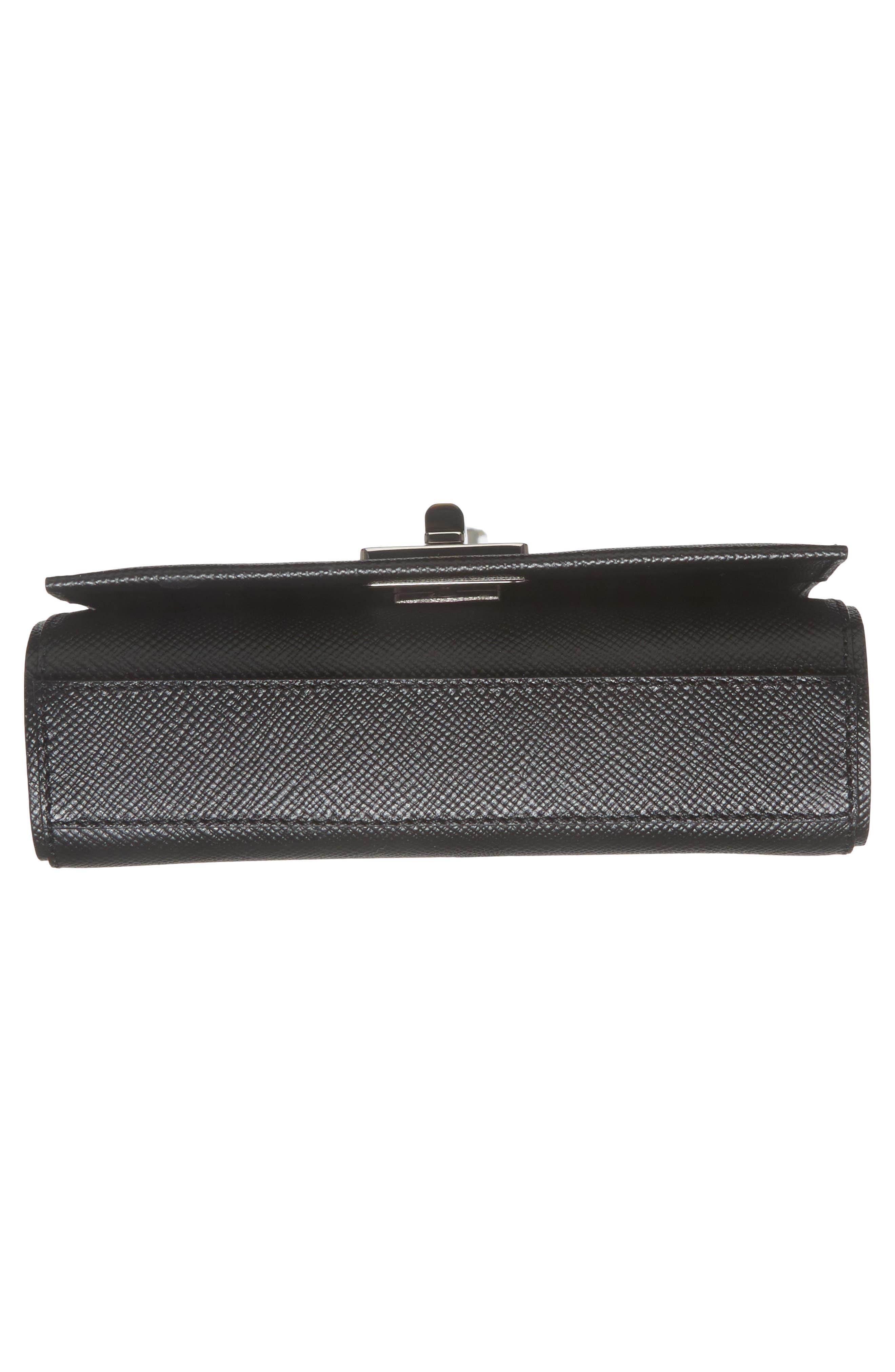 Mini Ilenea Leather Crossbody Bag,                             Alternate thumbnail 7, color,                             001