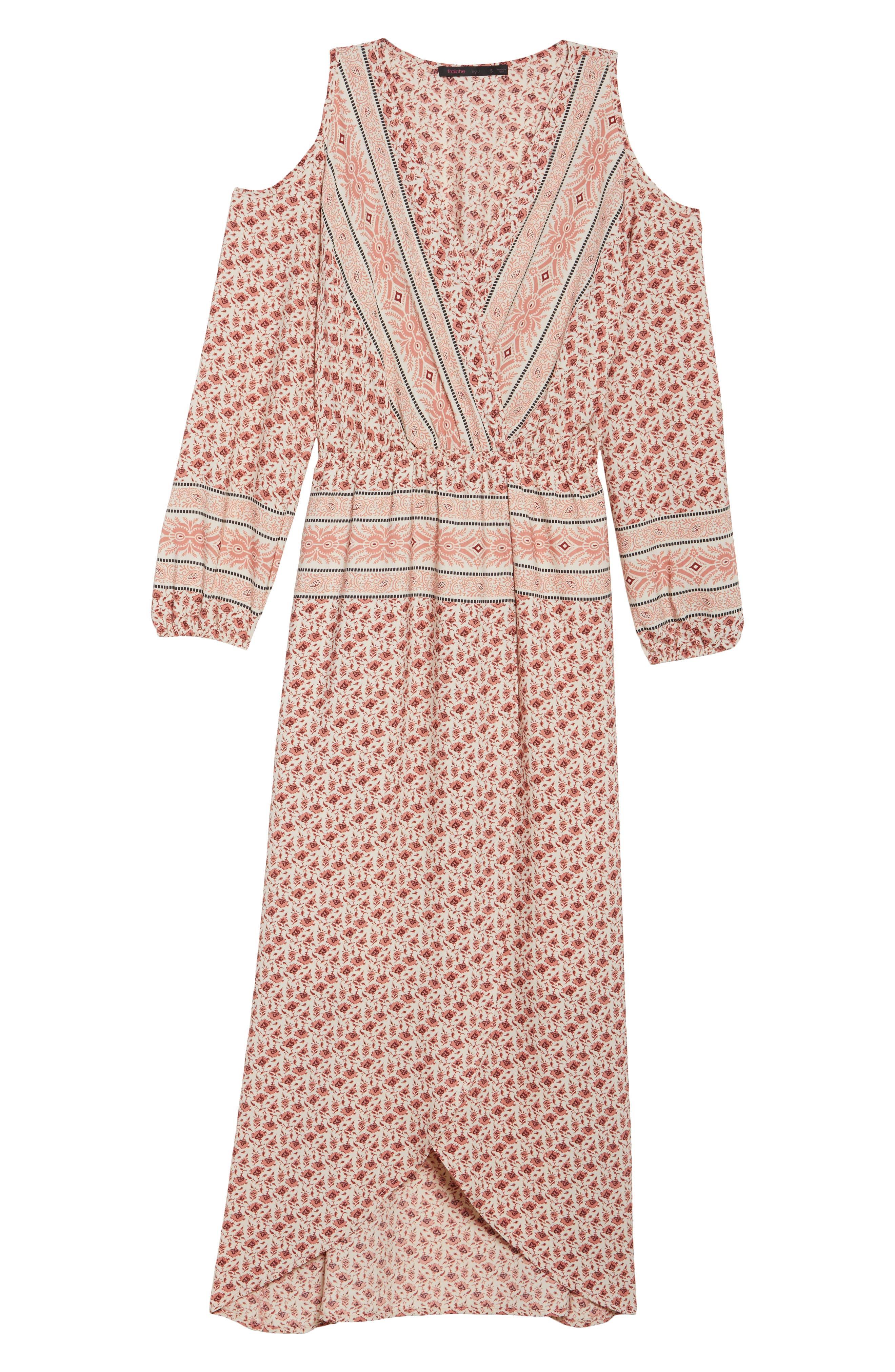 Cold Shoulder Midi Dress,                             Alternate thumbnail 6, color,                             MADISON