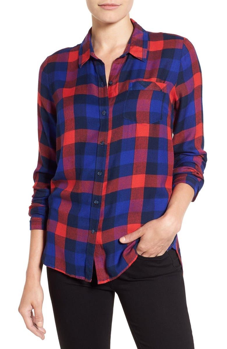 6d571dcfdcefc Lucky Brand  Bungalow Plaid  Button Back Shirt