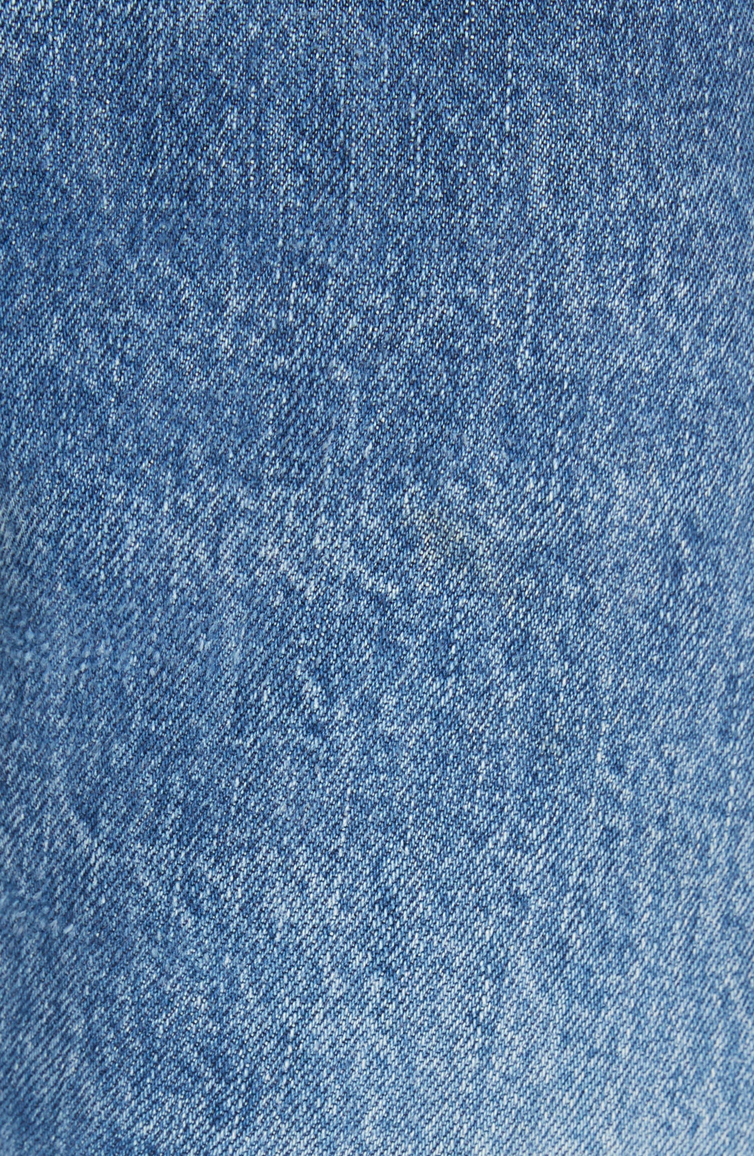 High Waist Stovepipe Jeans,                             Alternate thumbnail 5, color,                             INDIGO