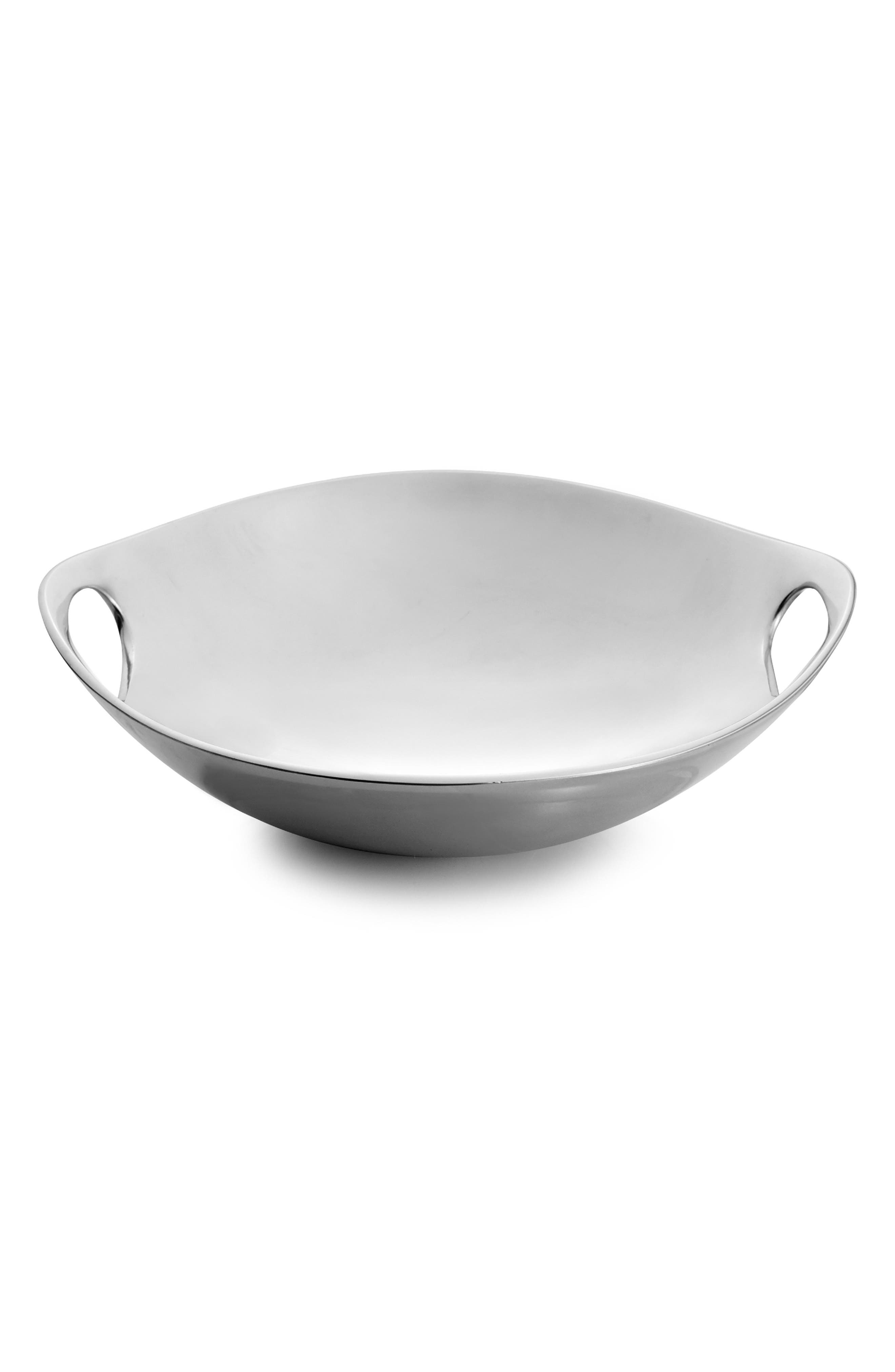 NAMBÉ Handled Bowl, Main, color, METALLIC SILVER