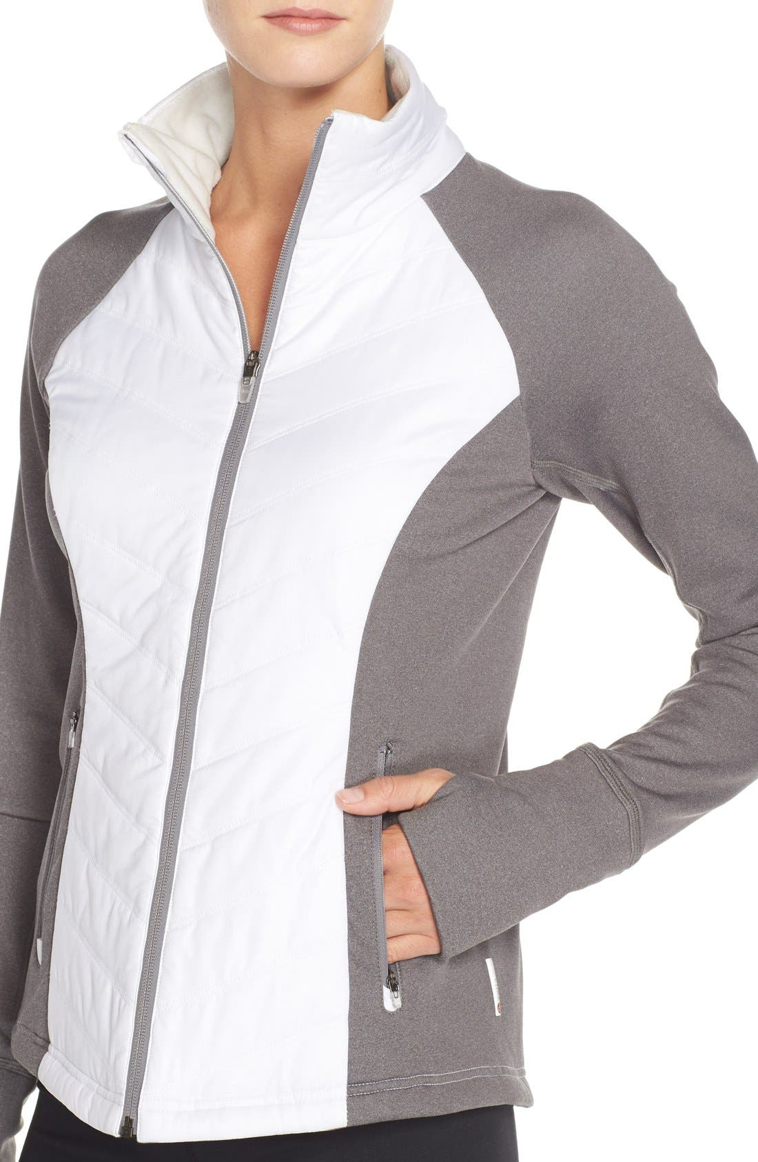 Zelfusion Reflective Quilted Jacket,                             Alternate thumbnail 56, color,