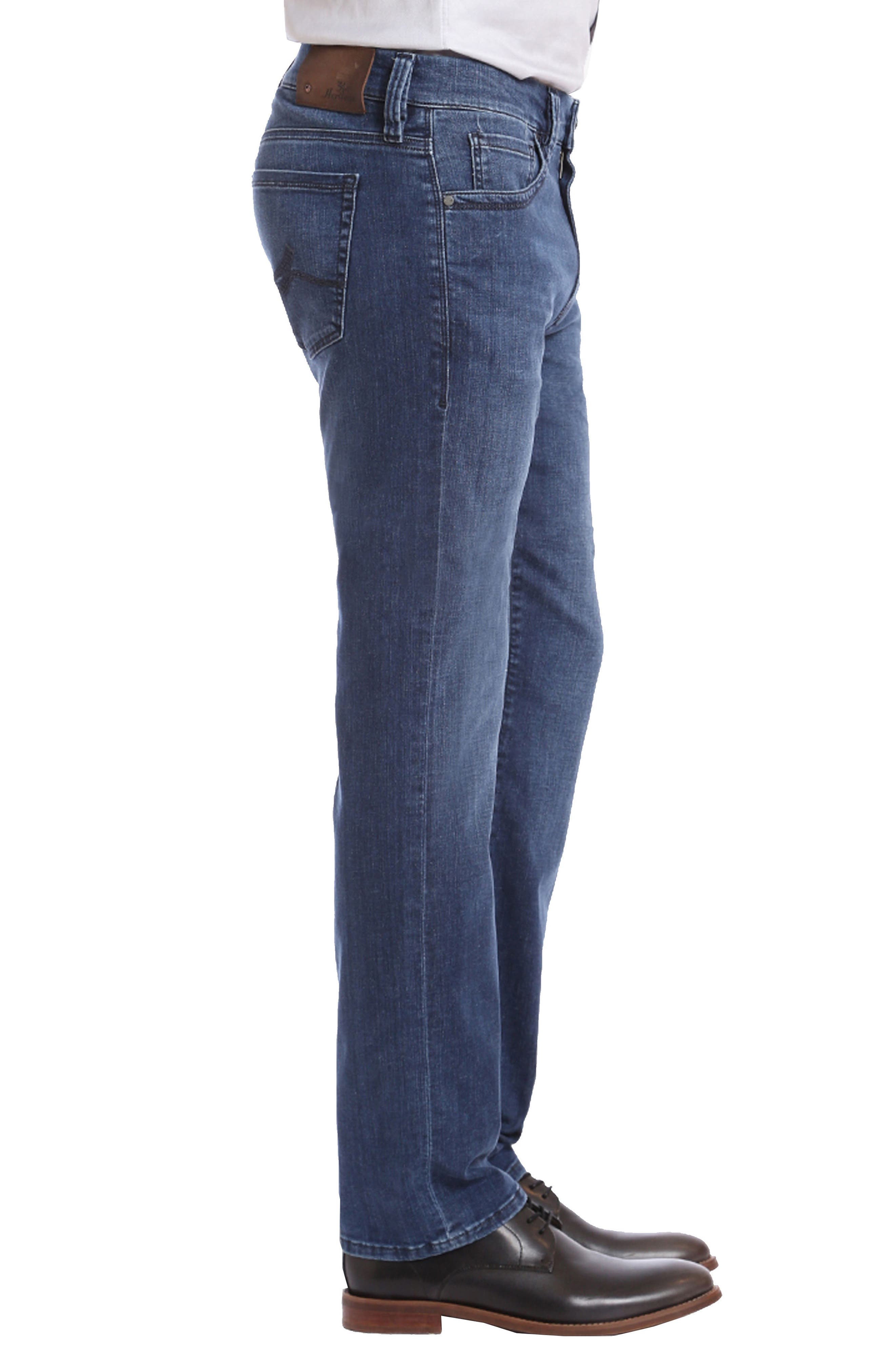 Courage Straight Fit Jeans,                             Alternate thumbnail 3, color,                             MID MILAN