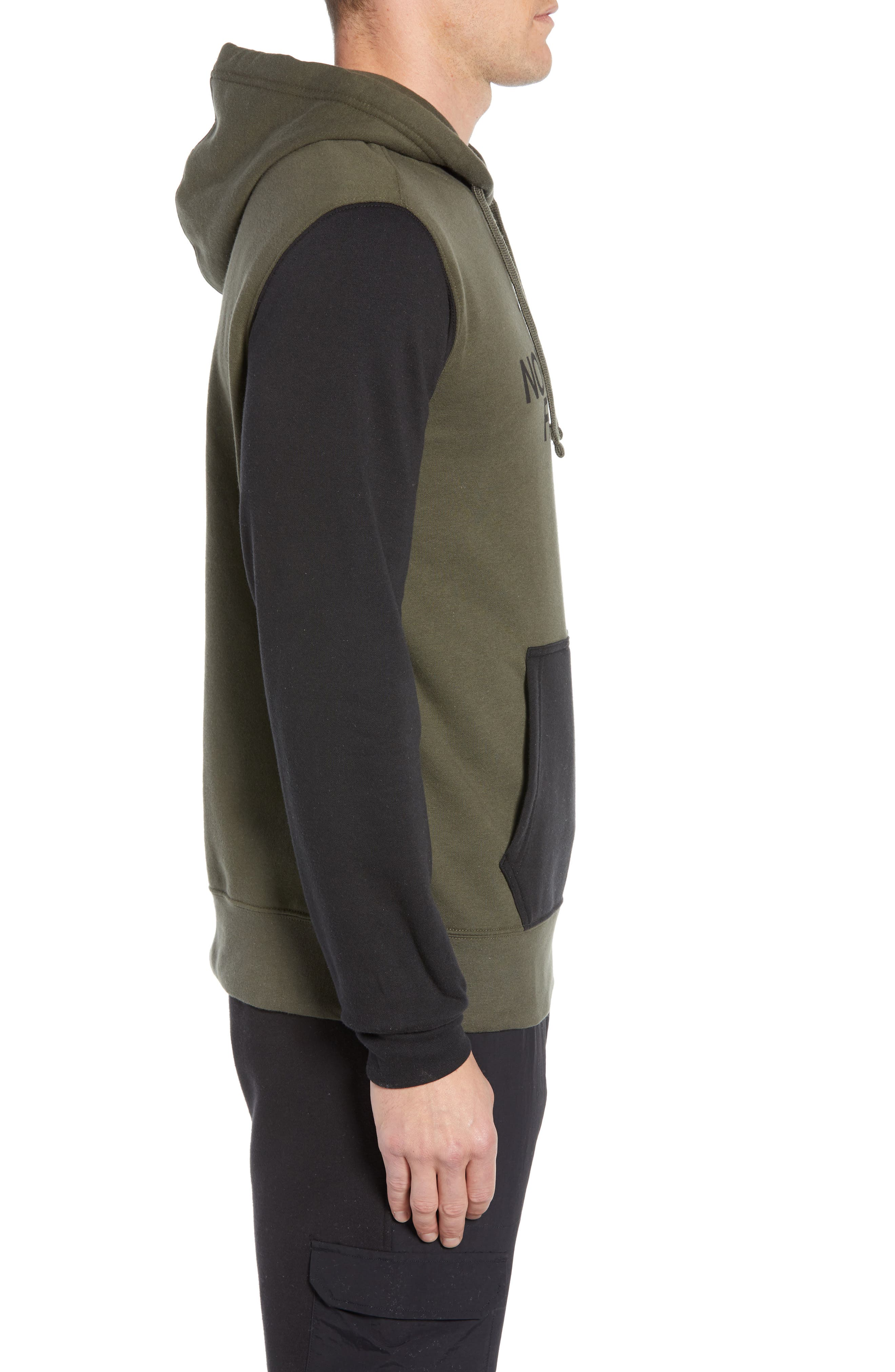 Holiday Half Dome Hooded Pullover,                             Alternate thumbnail 3, color,                             NEW TAUPE GREEN/ TNF BLACK