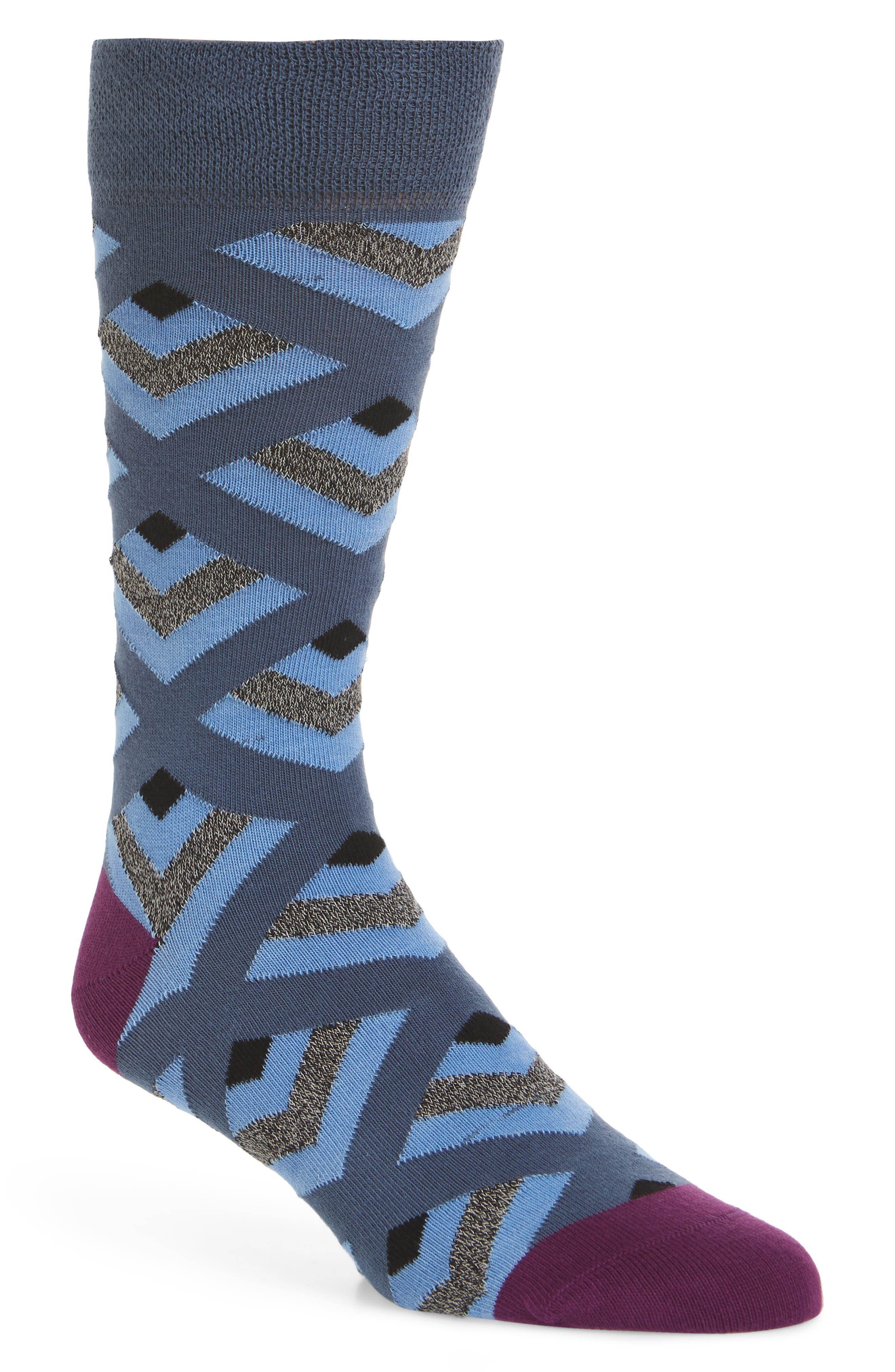Ram Geometric Socks,                             Main thumbnail 1, color,                             421