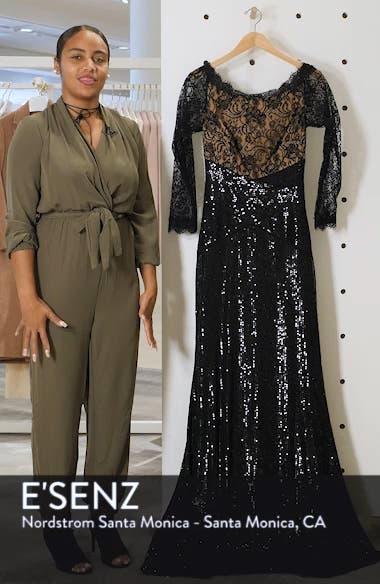 Lace & Sequin Gown, sales video thumbnail