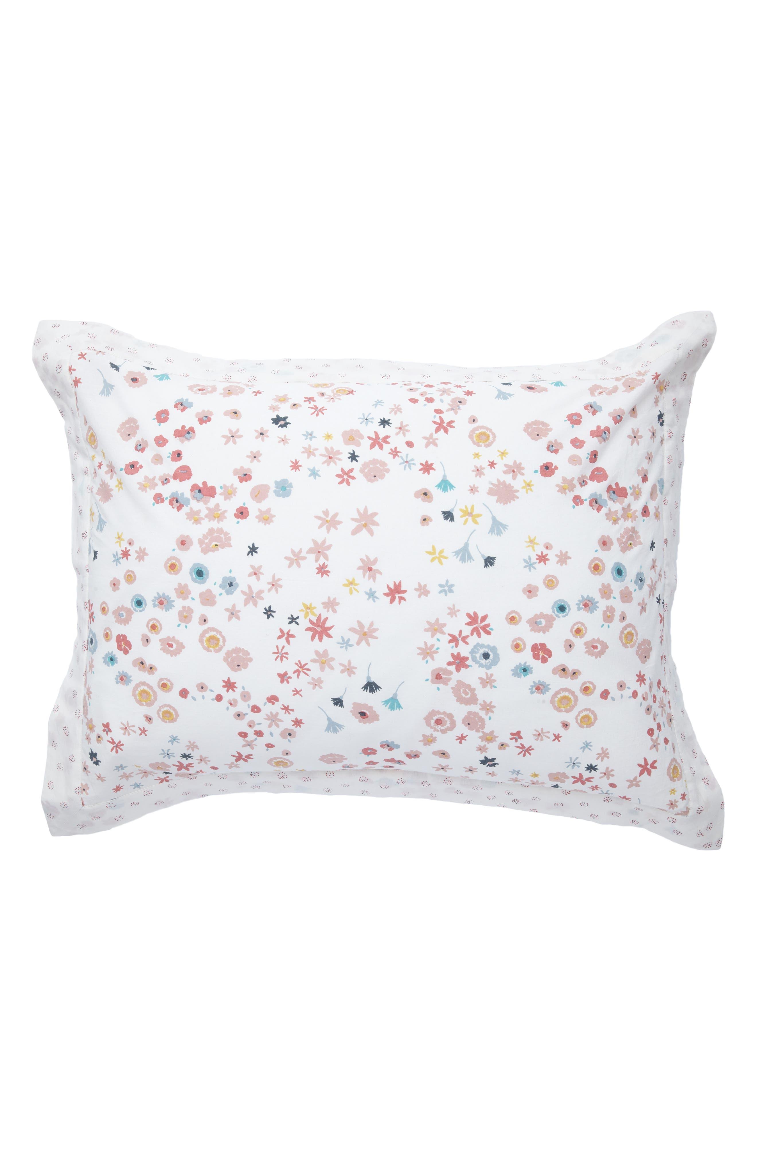 Reversible Standard Pillow Sham,                         Main,                         color, PINK