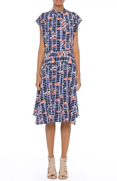 Pill Print Stretch Silk Dress, video thumbnail