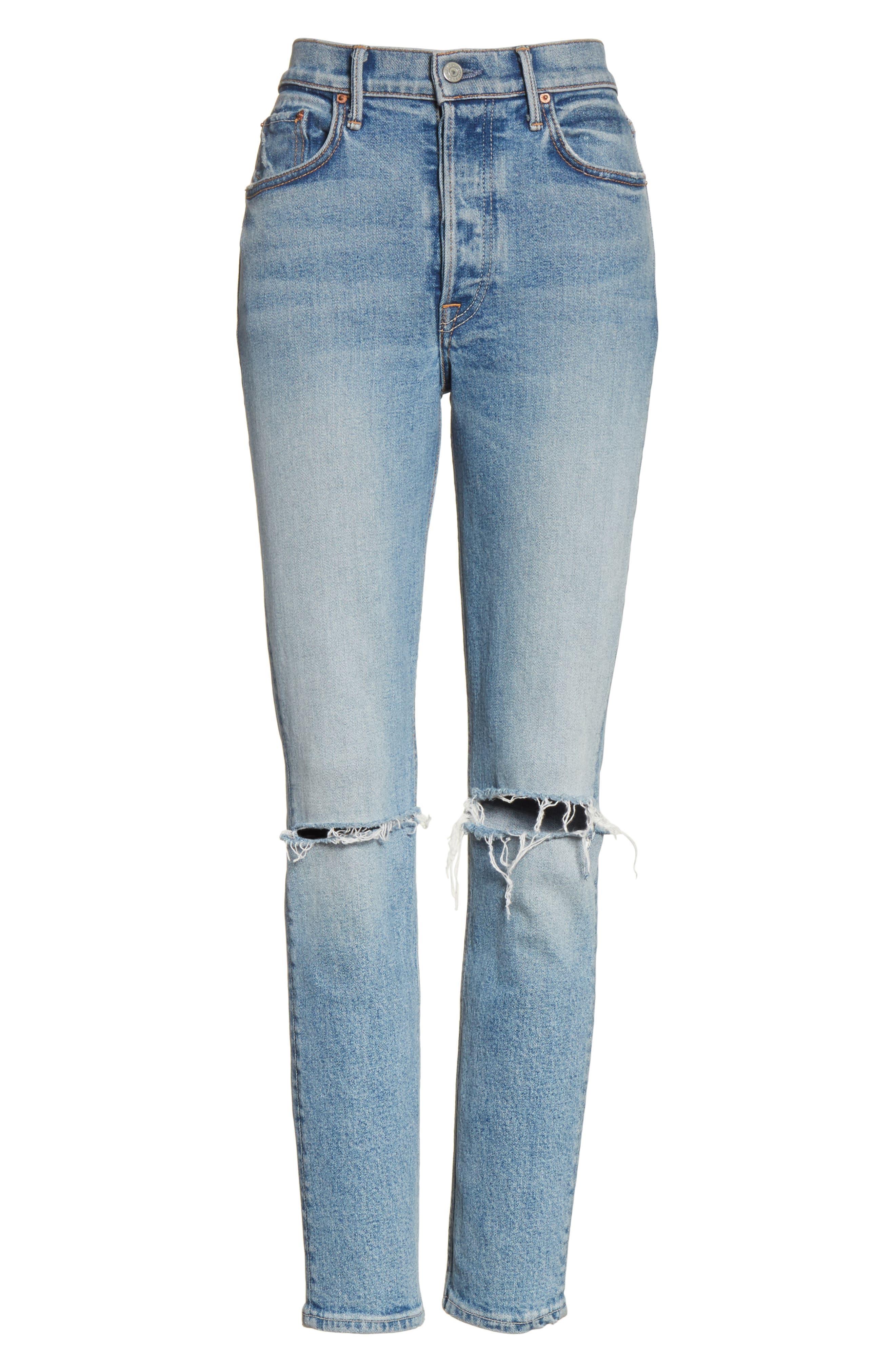 Karolina High Waist Jeans,                             Alternate thumbnail 6, color,                             WHAT IS LIFE