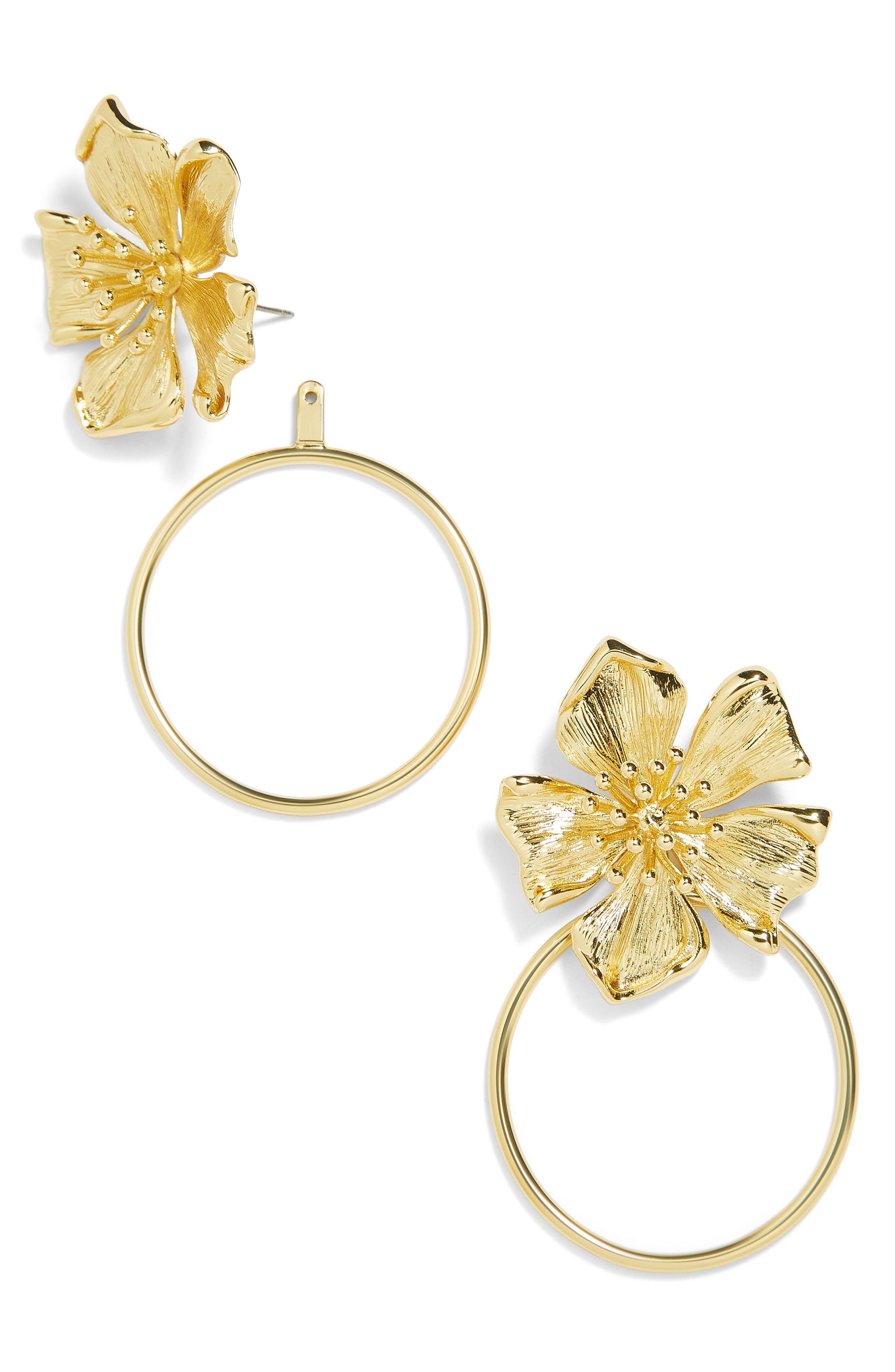 Penthia Hoop Earrings,                         Main,                         color, GOLD