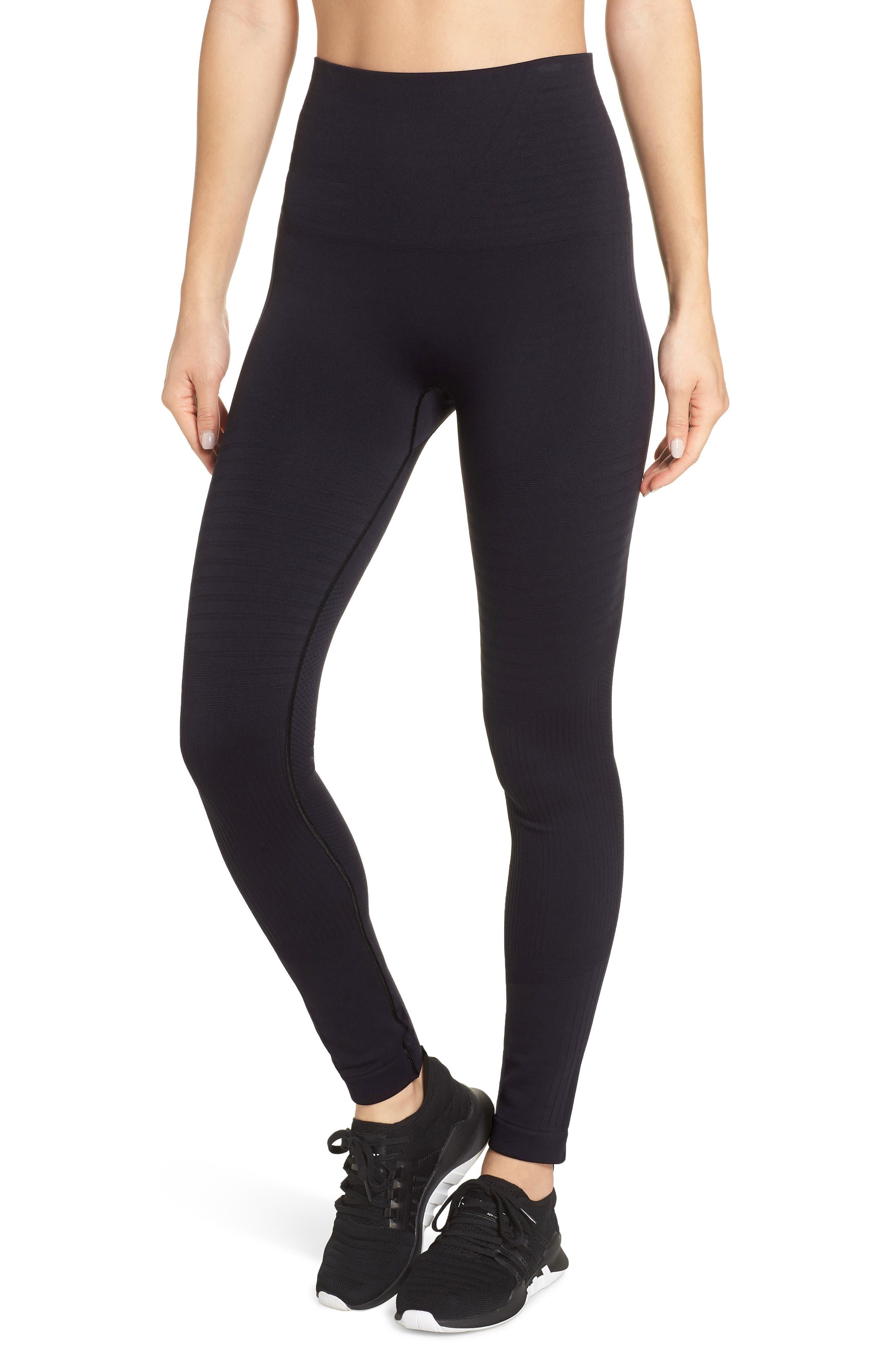 Moto Seamless High Waist Leggings,                         Main,                         color, BLACK