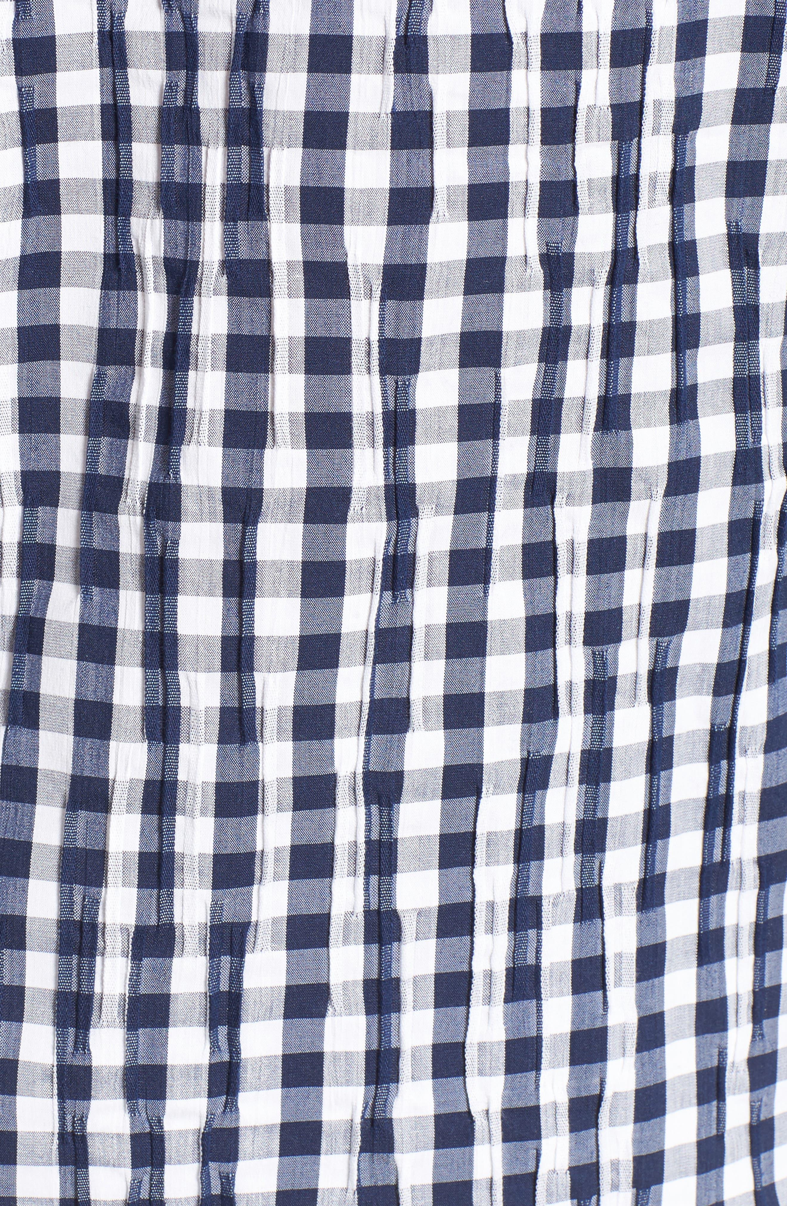 Crinkled Gingham Shirt,                             Alternate thumbnail 19, color,