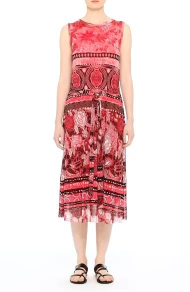 Alternate Video 7  - Fuzzi Print Tulle Midi Dress