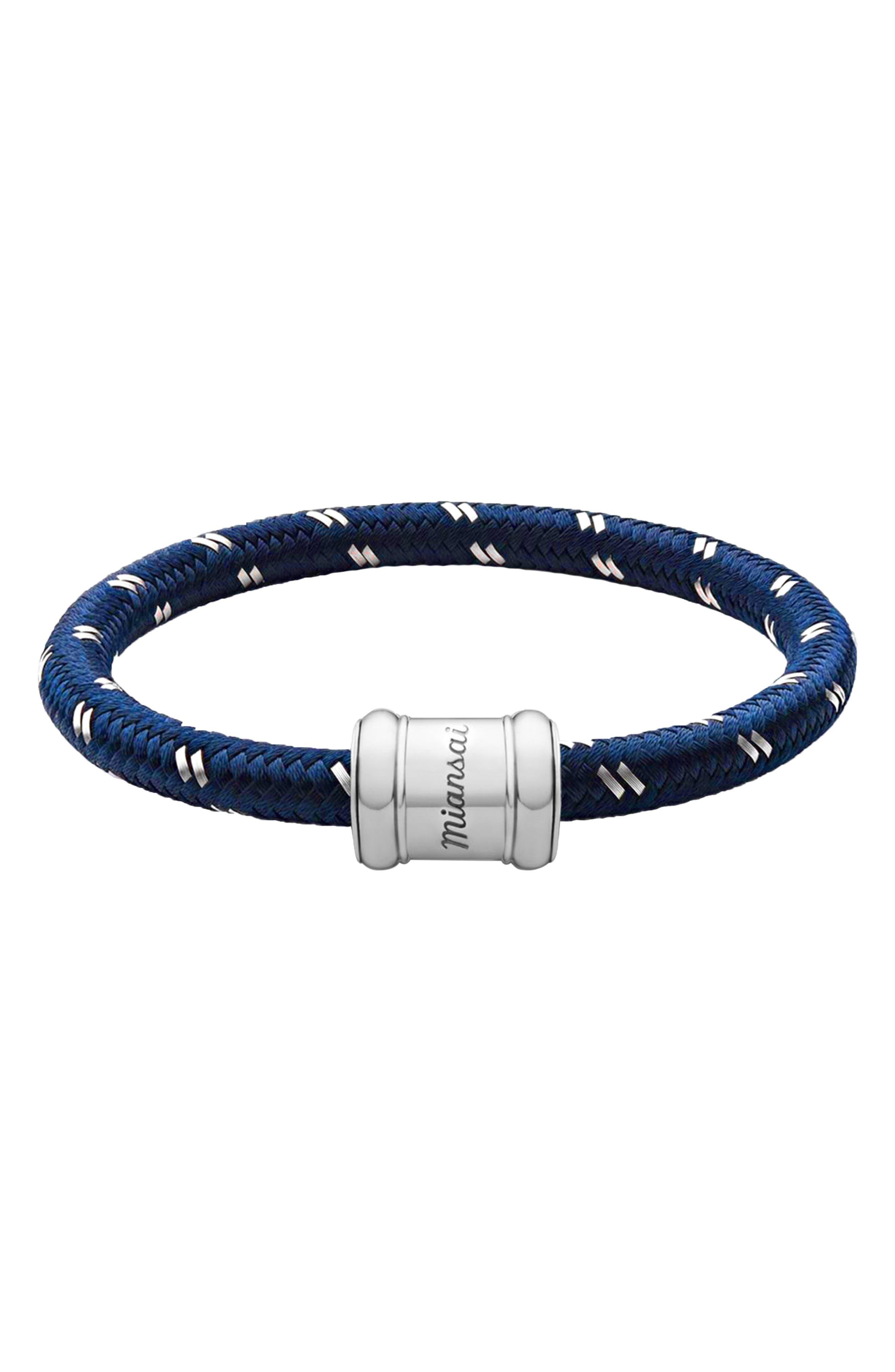 Barrel Casing Nylon Woven Bracelet,                             Main thumbnail 1, color,                             SENECA
