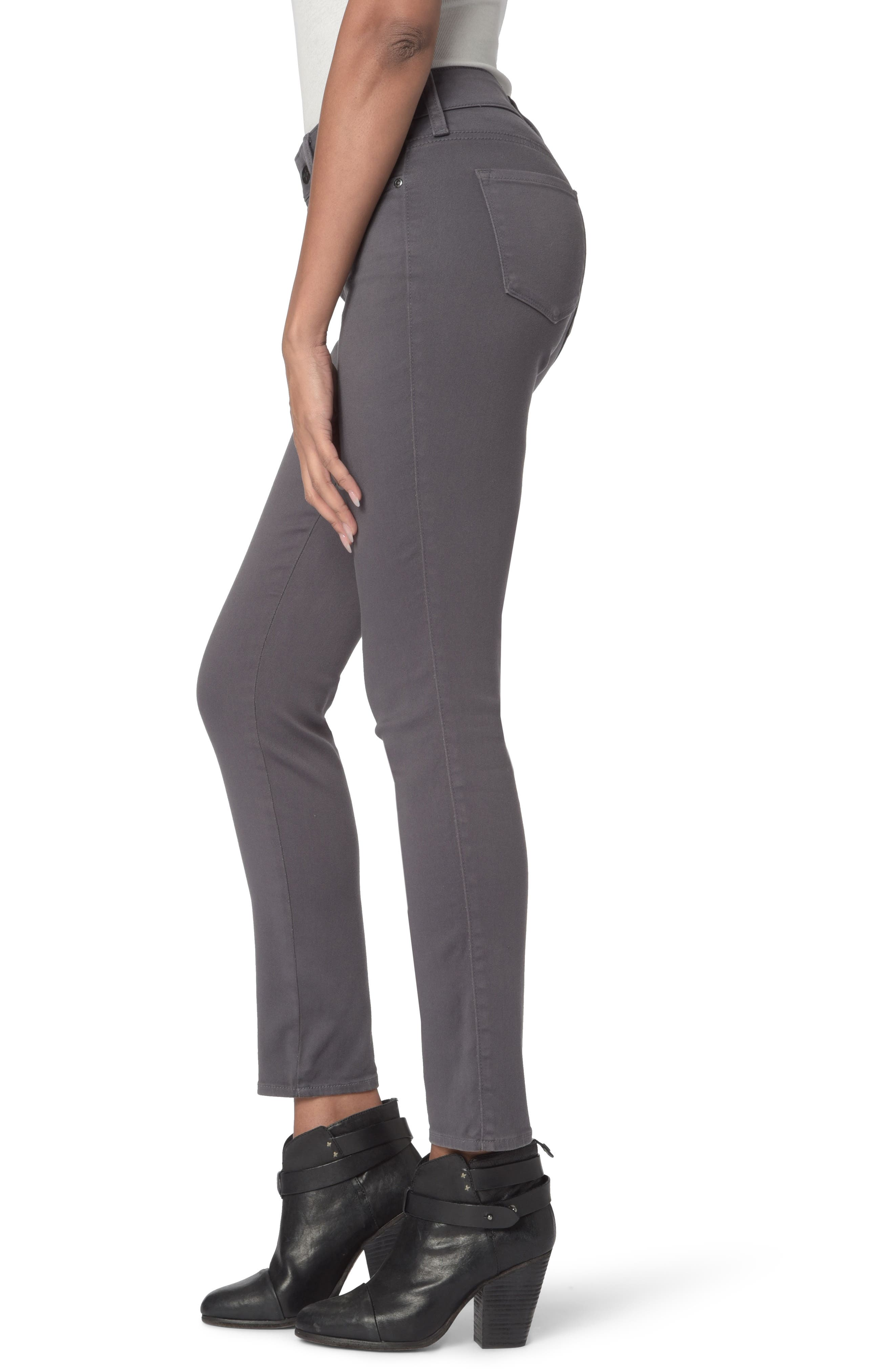 Ami High Waist Colored Stretch Skinny Jeans,                             Alternate thumbnail 3, color,                             VINTAGE PEWTER