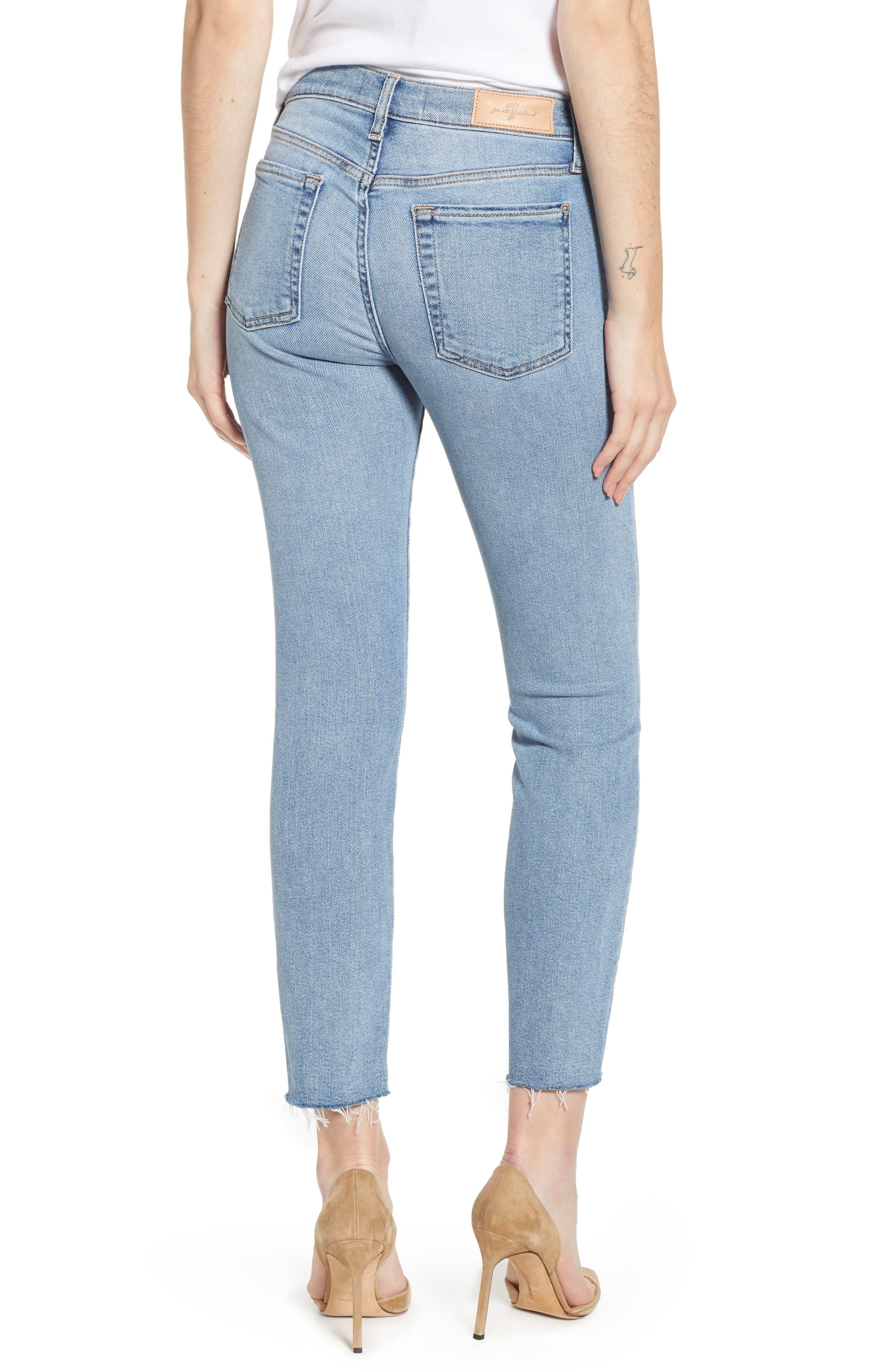Roxanne Raw Hem Ankle Slim Jeans,                             Alternate thumbnail 2, color,                             403