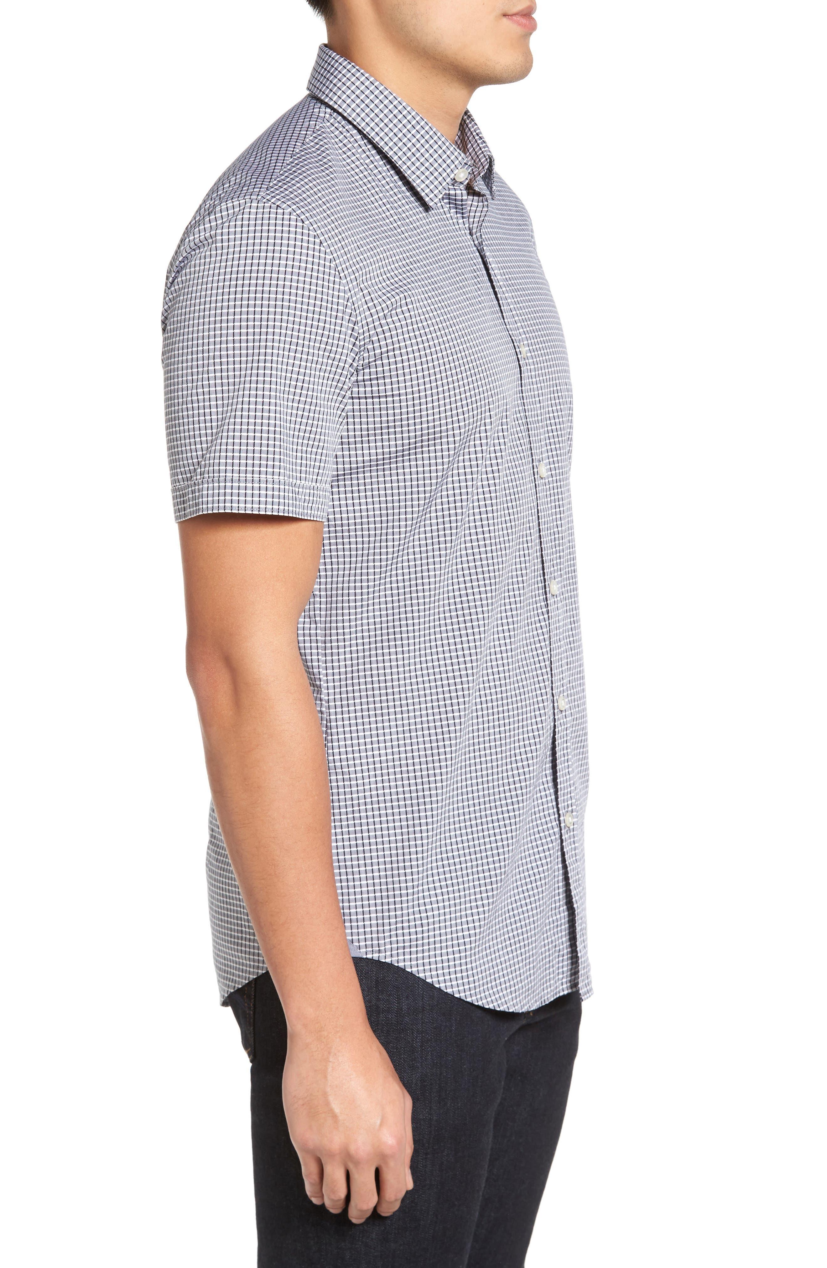Ronn Check Sport Shirt,                             Alternate thumbnail 3, color,                             402