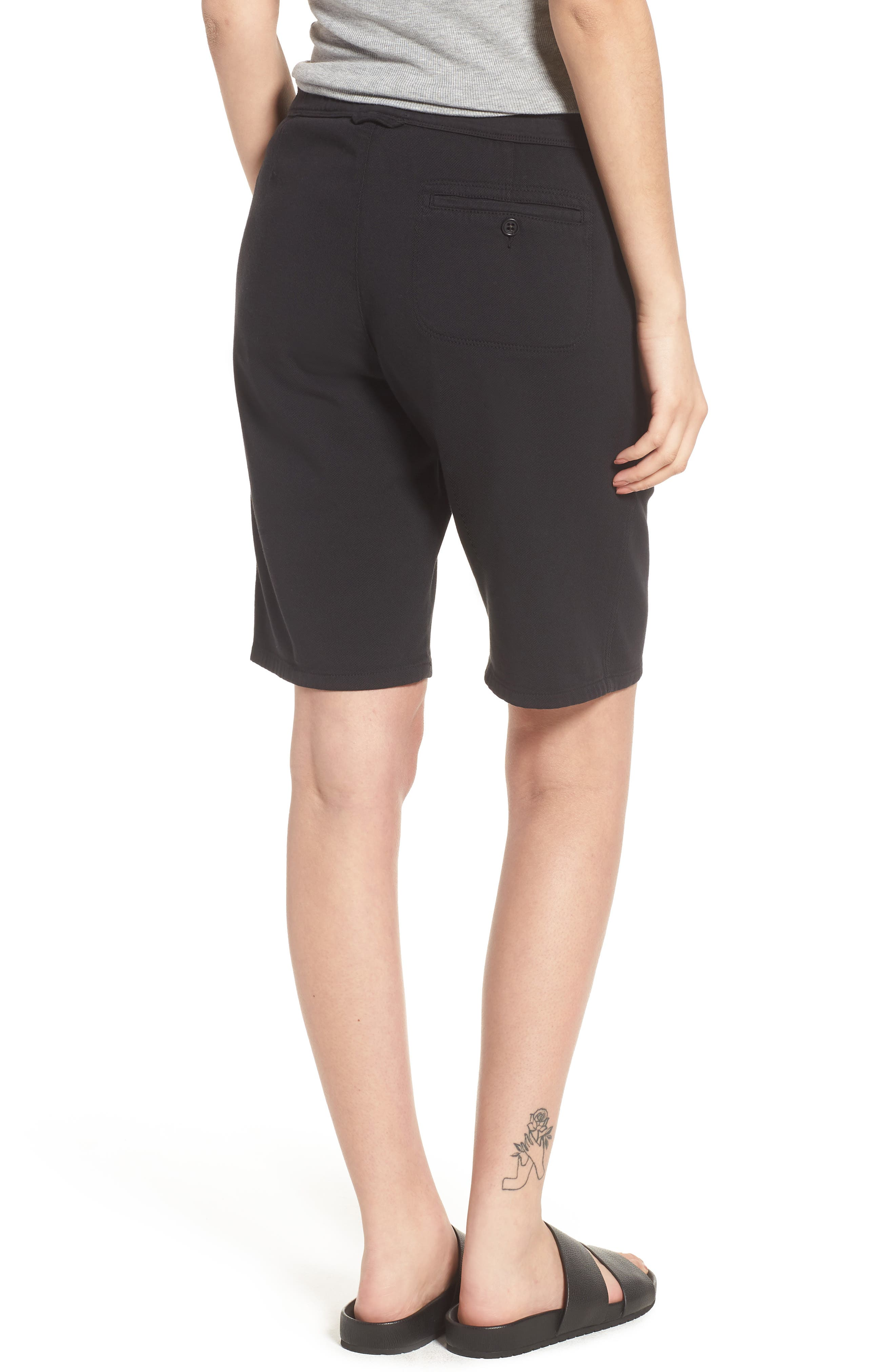 Soft Drape Utility Shorts,                             Alternate thumbnail 2, color,                             001