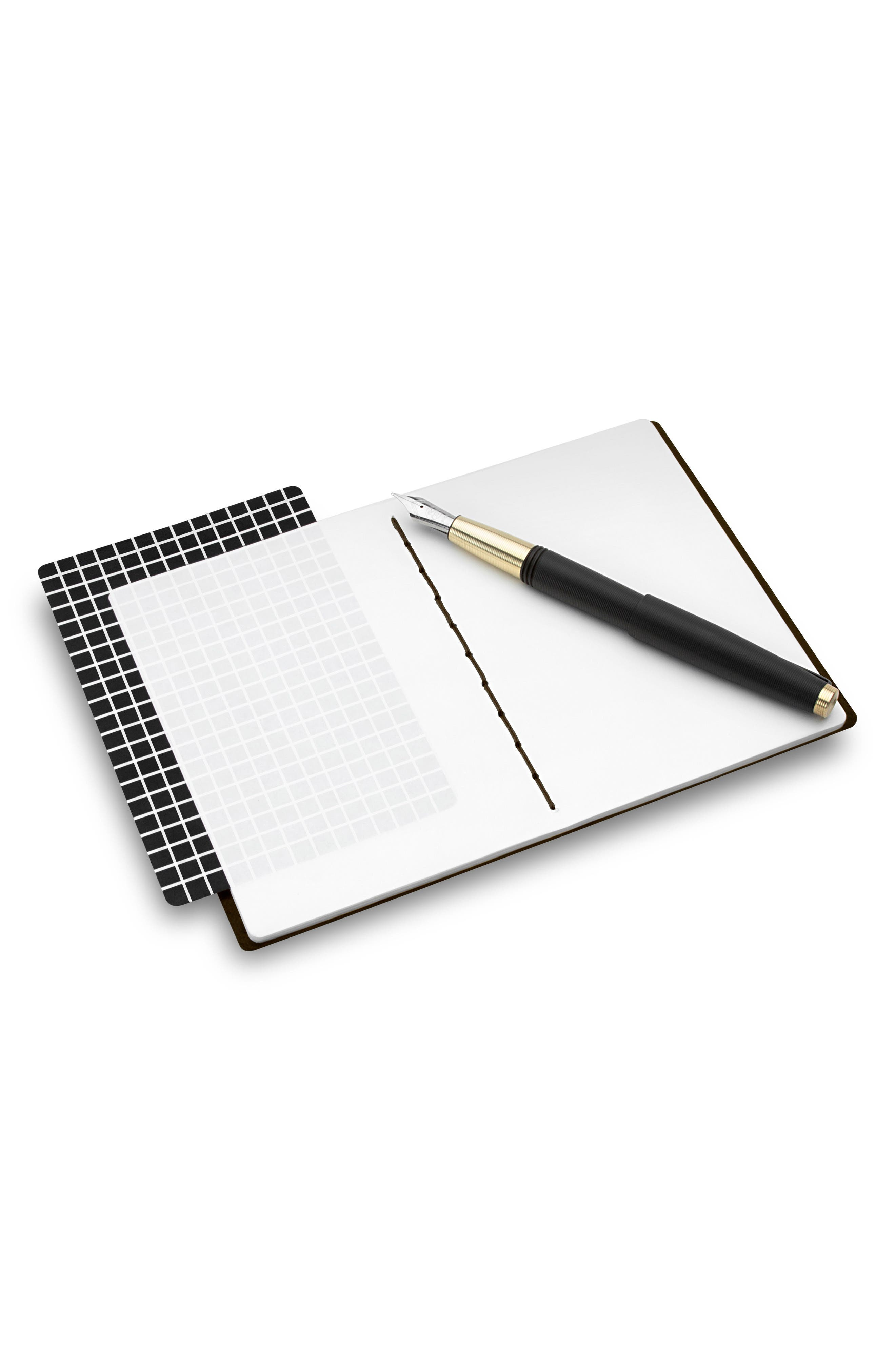 Small Leather Notebook,                             Alternate thumbnail 2, color,                             JET