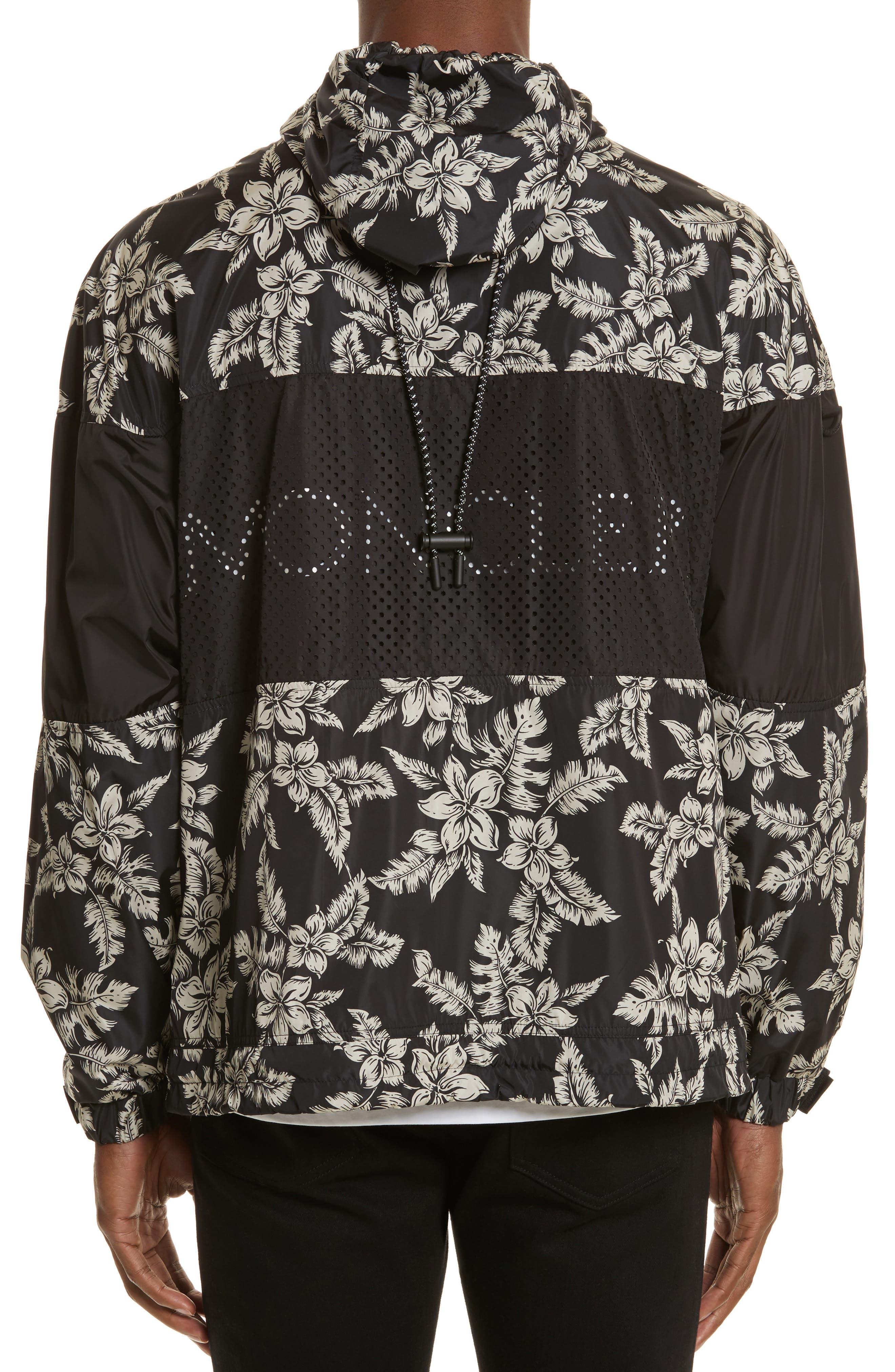 Thiou Floral Print Jacket,                             Alternate thumbnail 2, color,                             BLACK