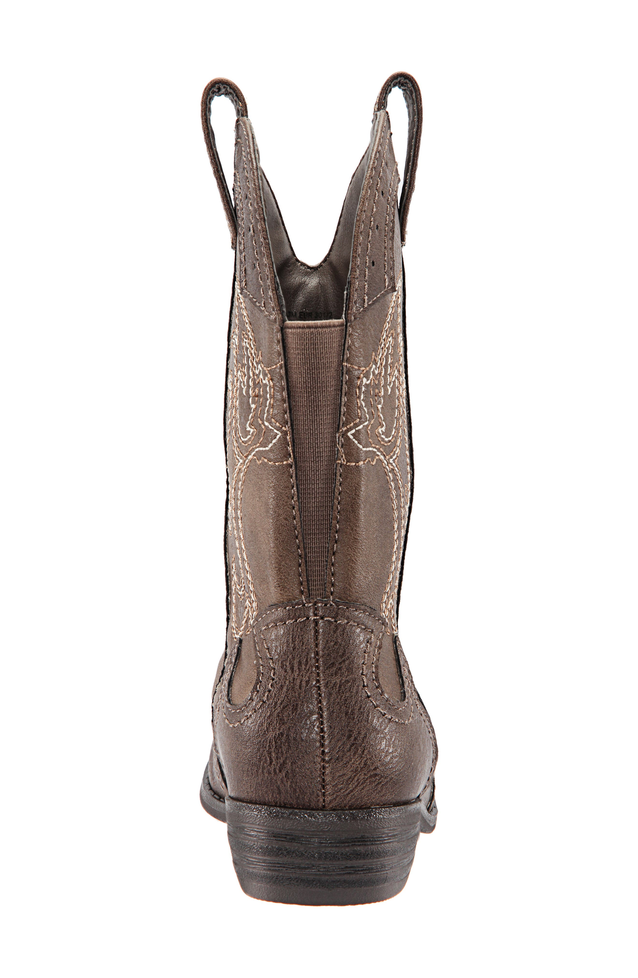Beti Western Boot,                             Alternate thumbnail 7, color,                             BROWN DISTRESSED