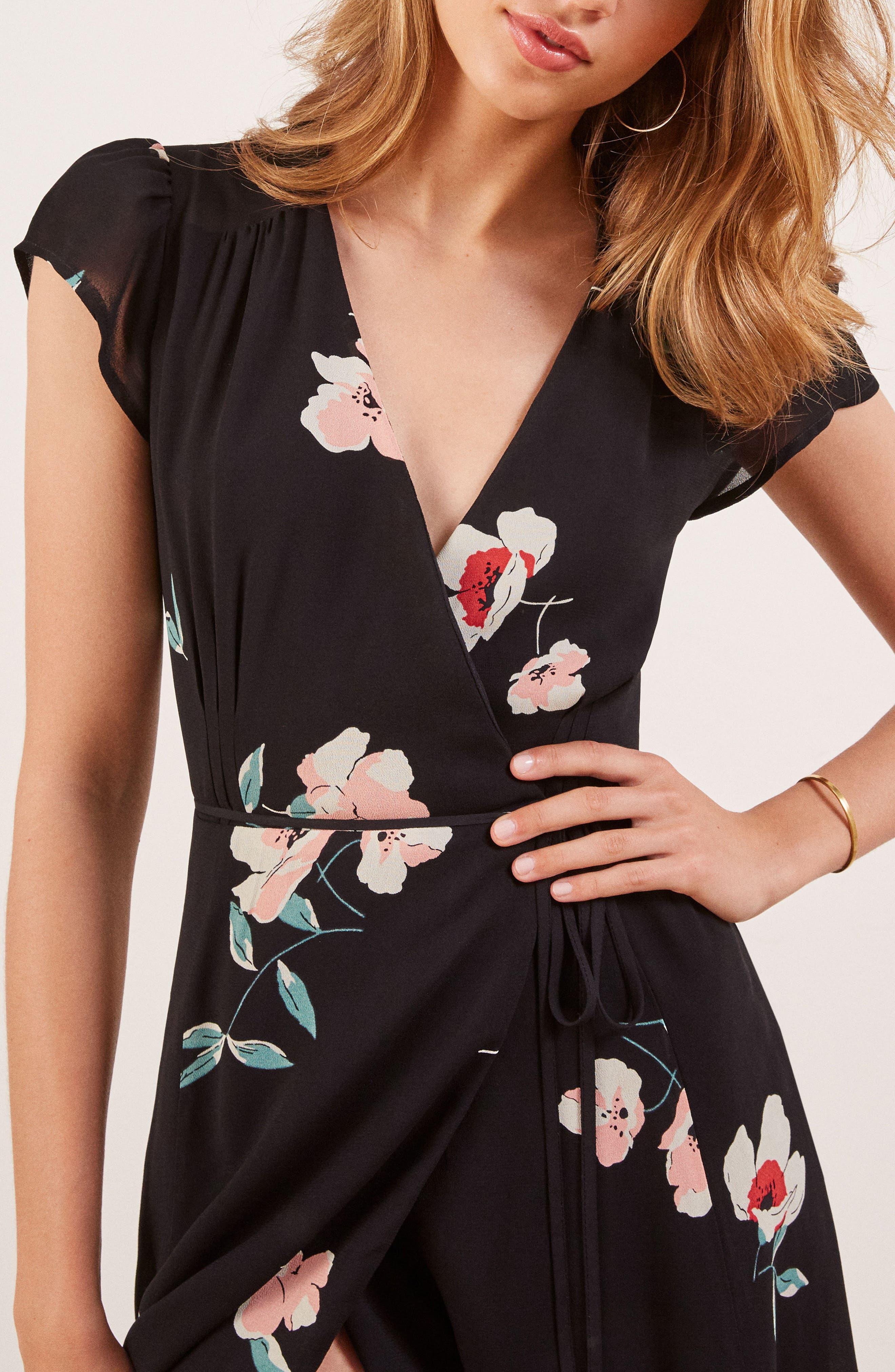 Carina Midi Wrap Dress,                             Alternate thumbnail 4, color,                             ORNAMENT