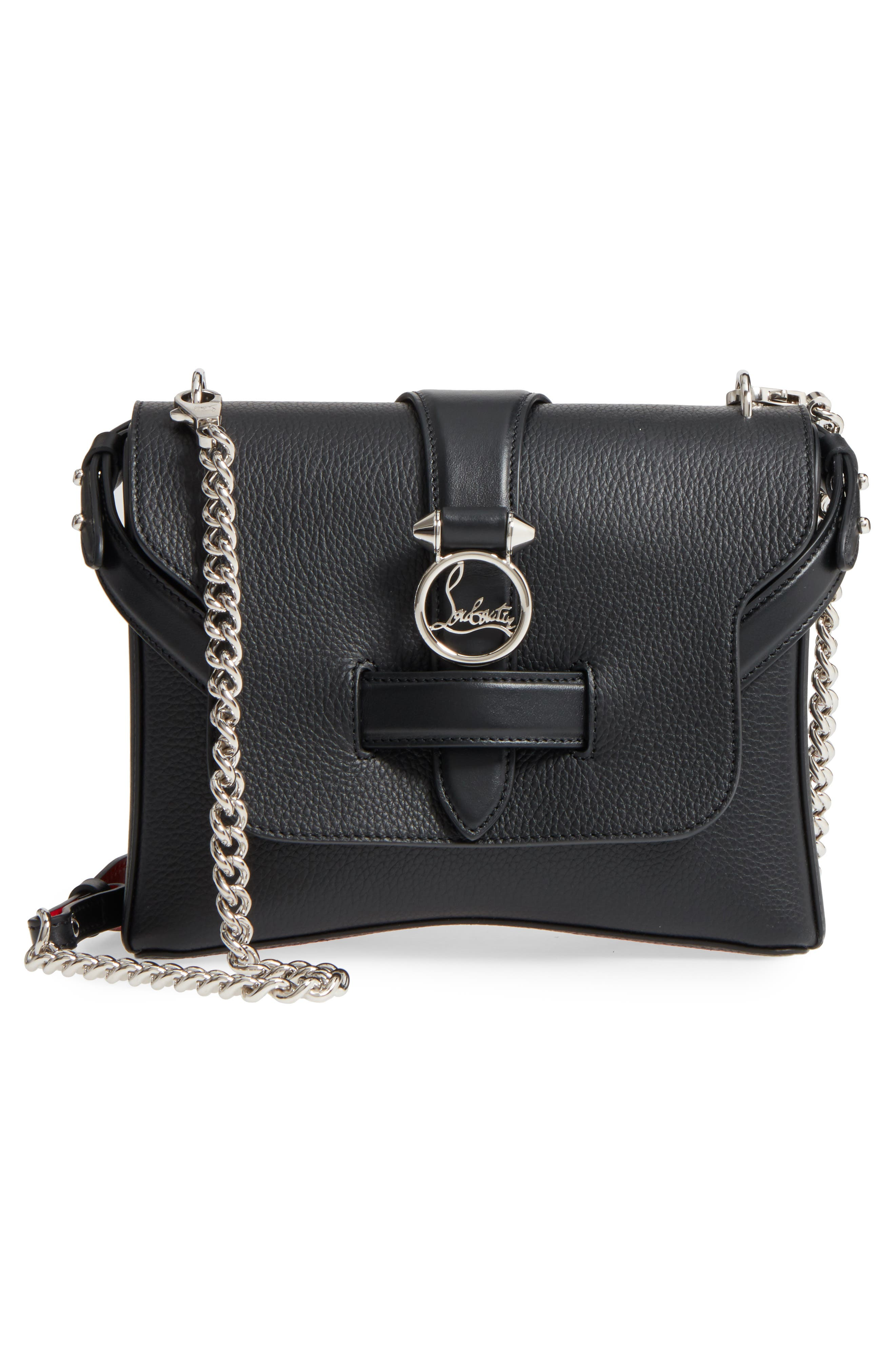 Small Rubylou Calfskin Leather Bag,                             Alternate thumbnail 3, color,                             007