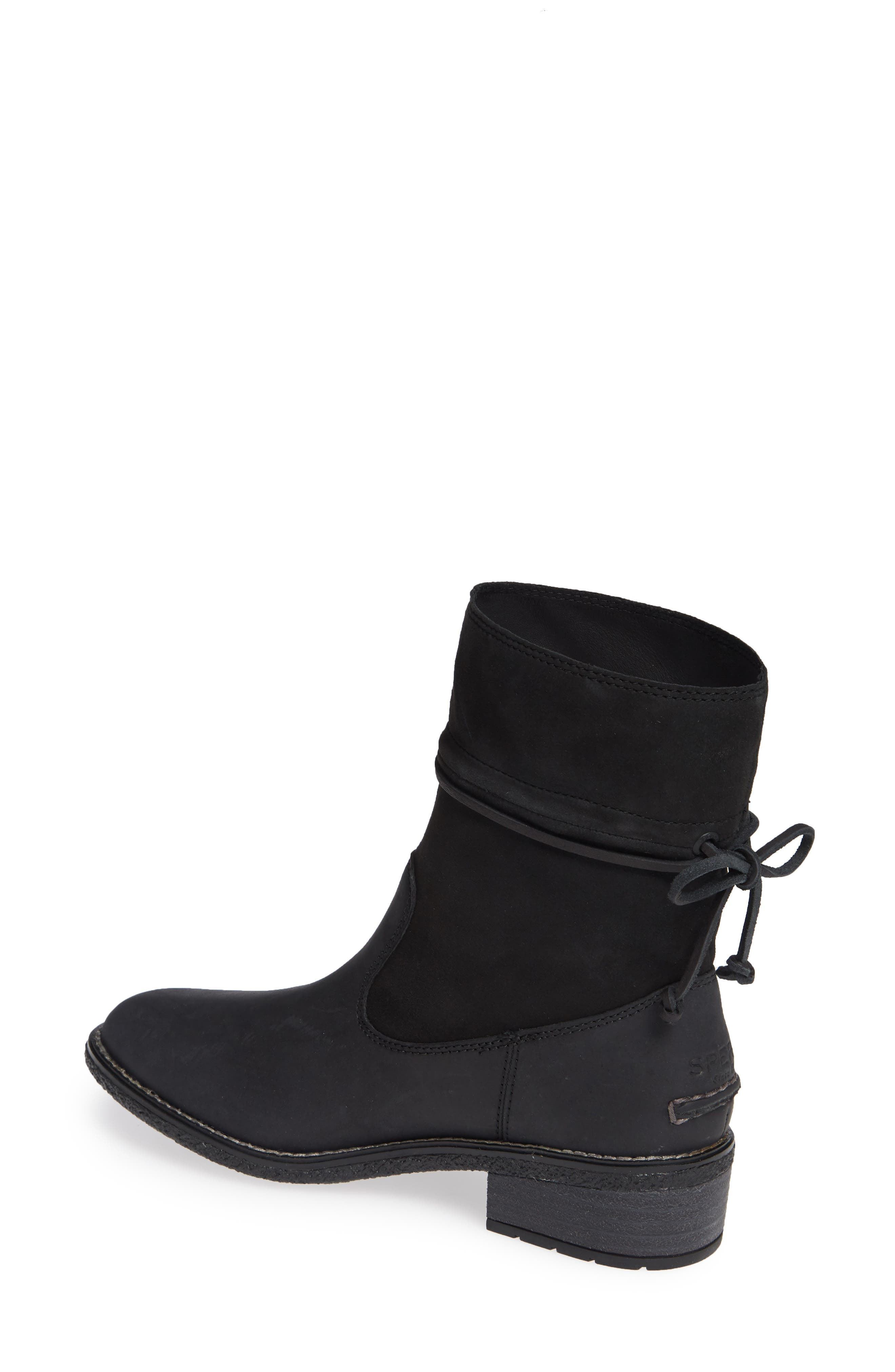 Maya Ronan Bootie,                             Alternate thumbnail 2, color,                             BLACK SUEDE/ LEATHER