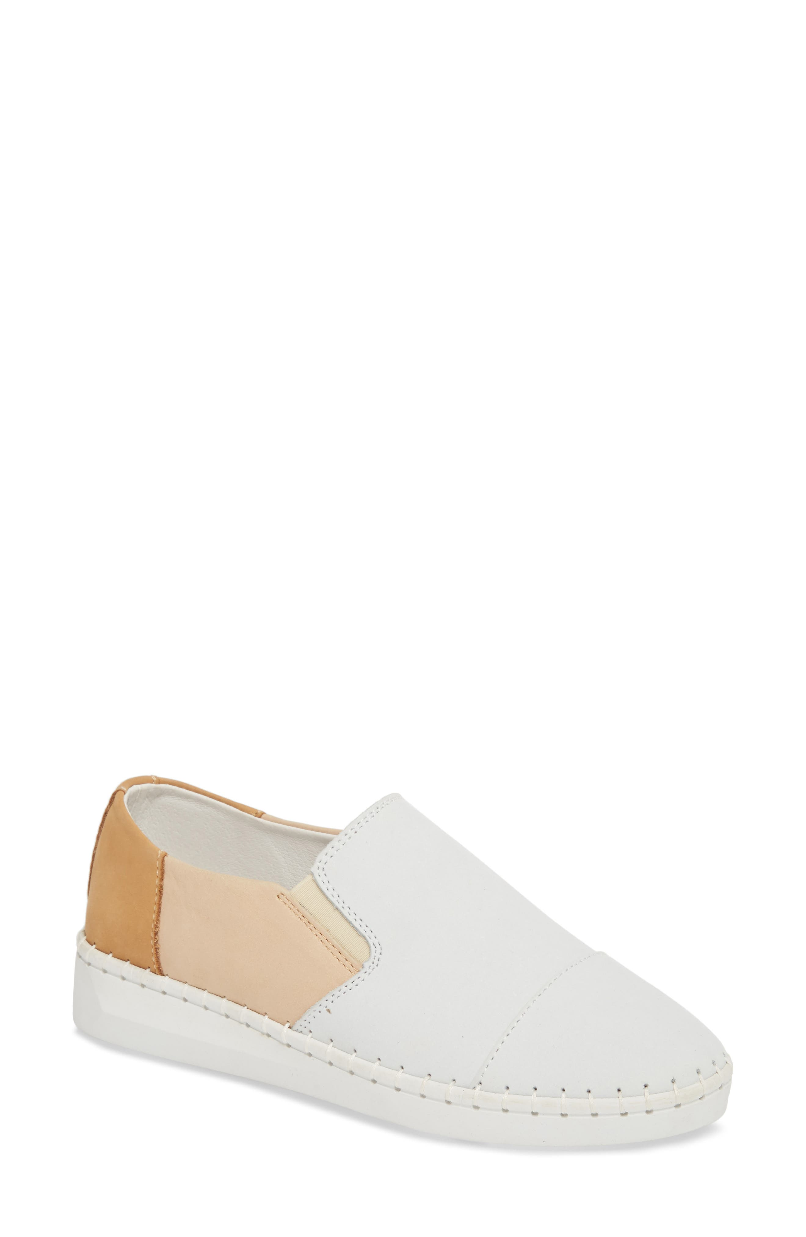 TW107 Slip-On Flat,                             Main thumbnail 1, color,                             NUDE MIX LEATHER