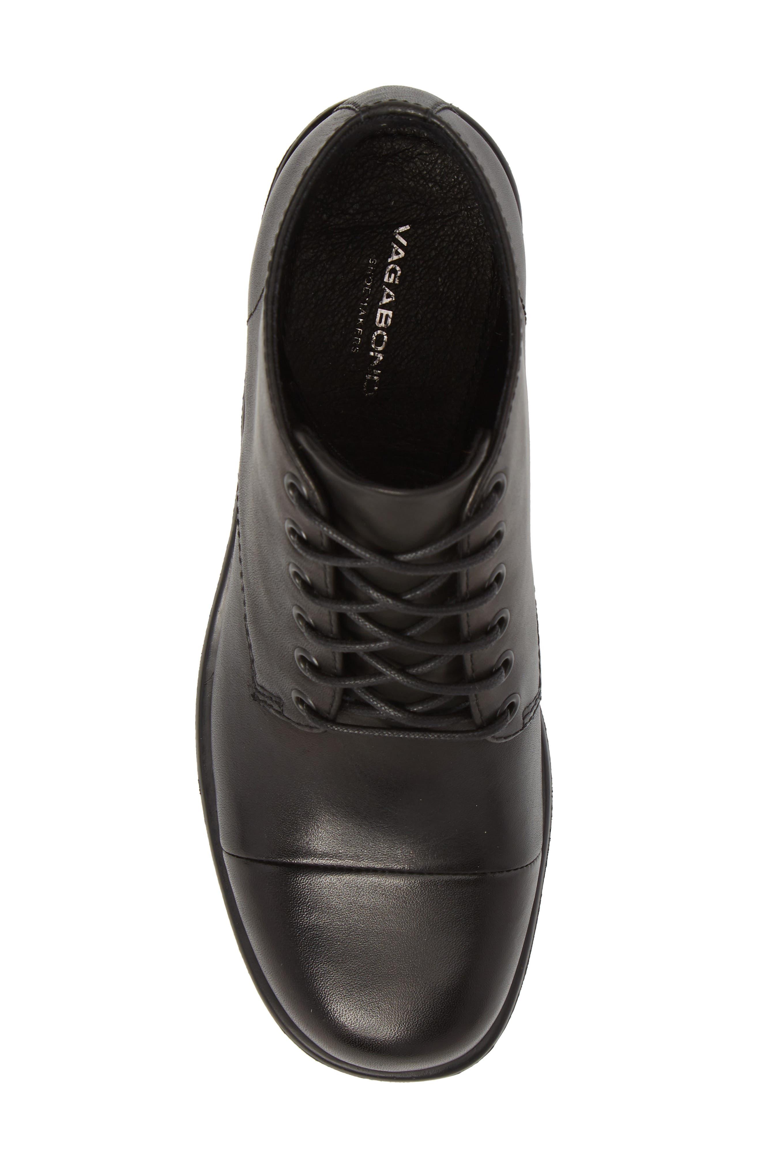 VAGABOND,                             Shoemakers Dioon Cap Toe Bootie,                             Alternate thumbnail 5, color,                             BLACK LEATHER