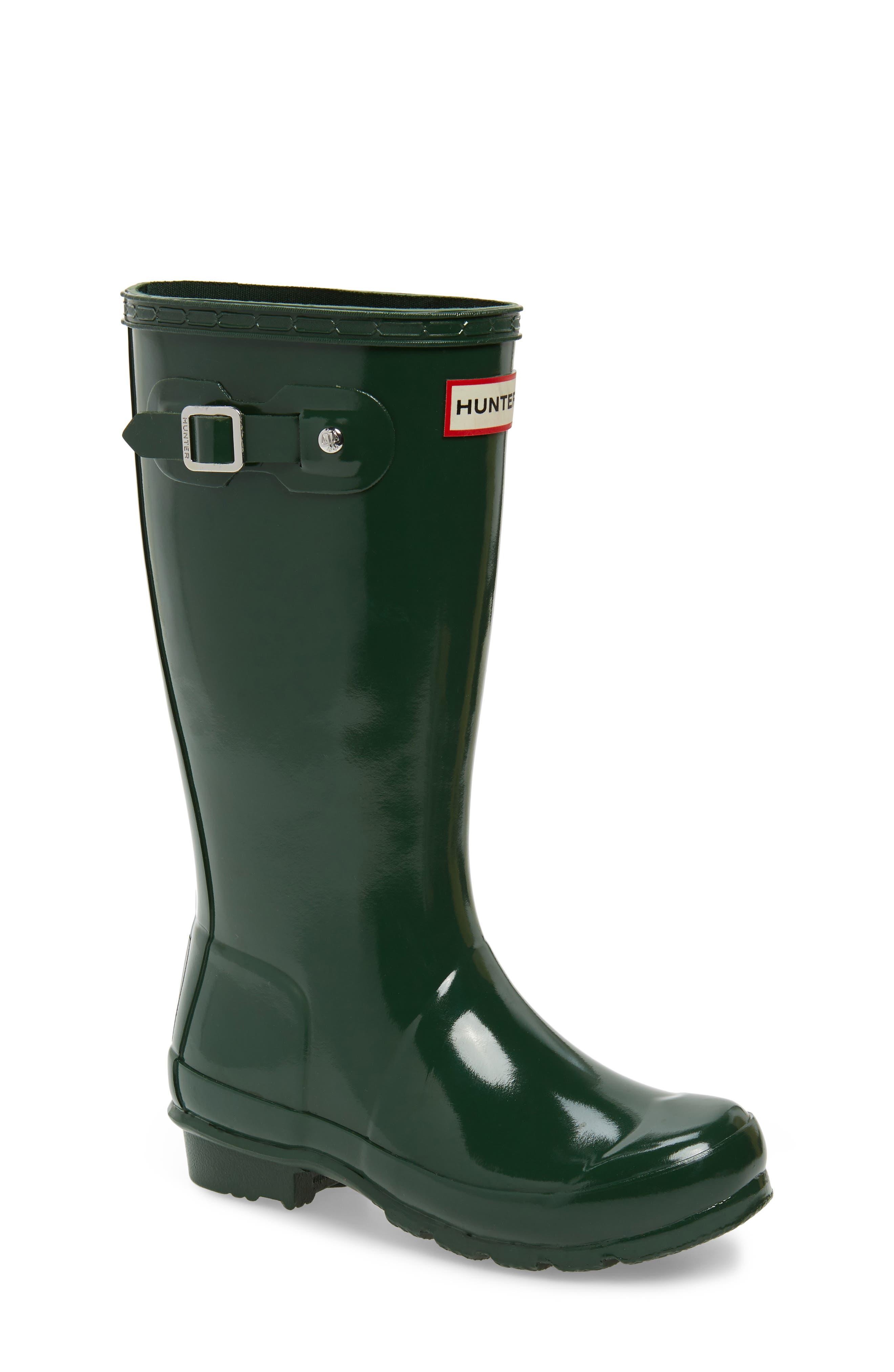 Original Gloss Rain Boot,                         Main,                         color, HUNTER GREEN