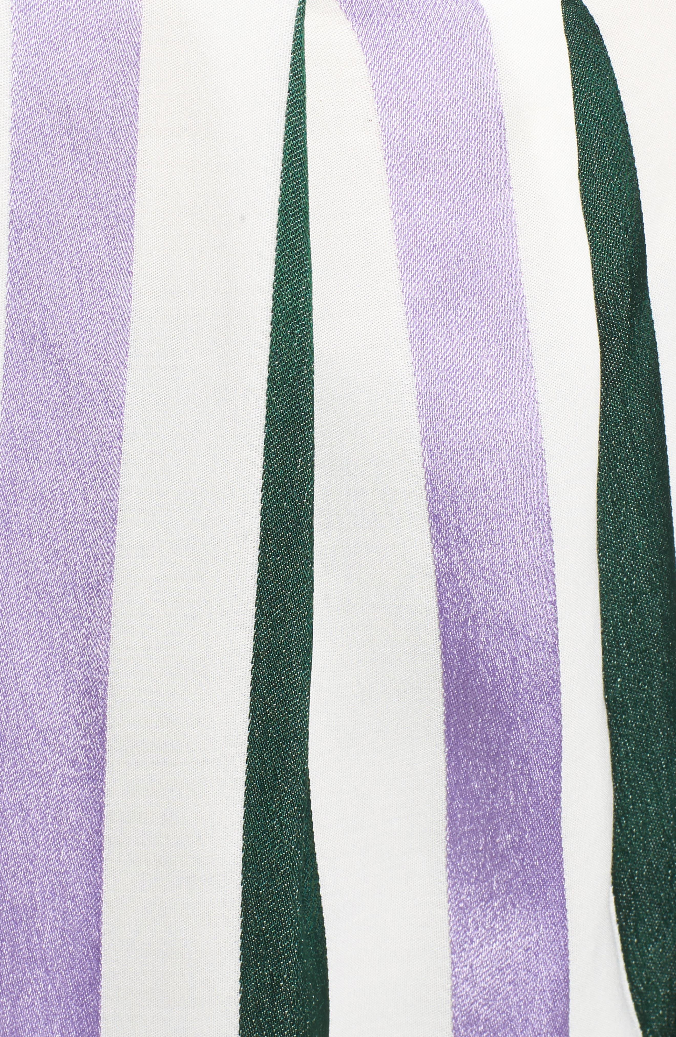 Stripe Draped Peplum Top,                             Alternate thumbnail 5, color,                             310