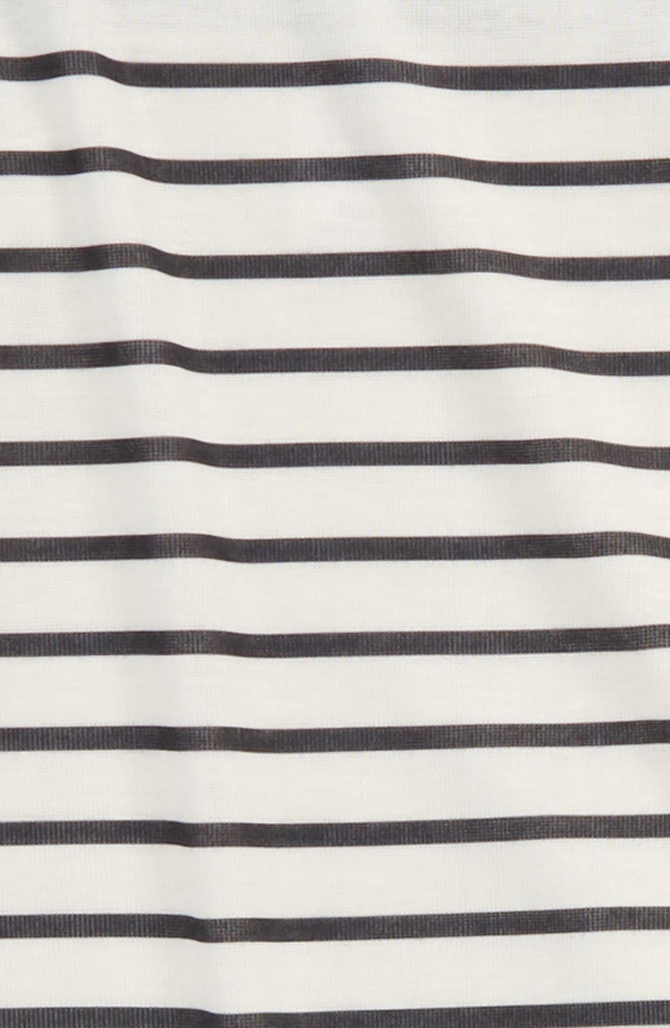 Stripe Two-Piece Pajamas Set,                             Alternate thumbnail 2, color,                             001