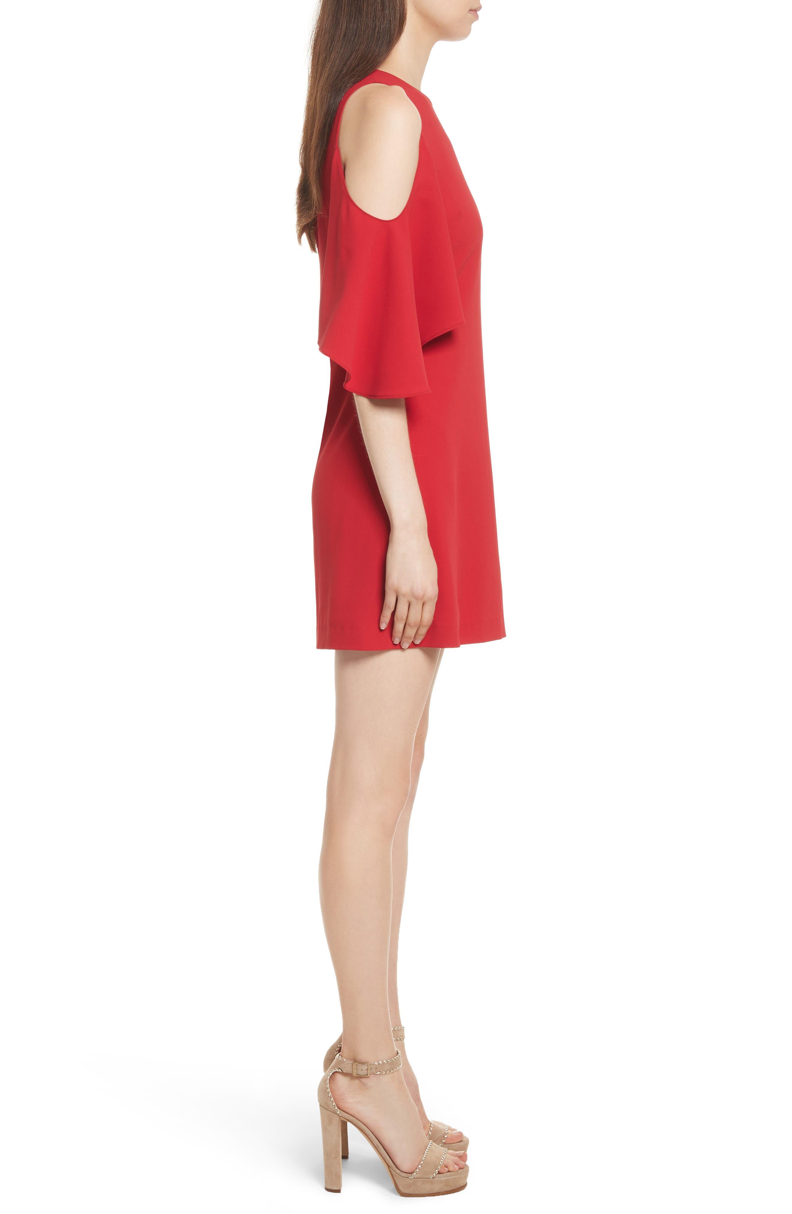 Coley Cold Shoulder A-Line Dress,                             Alternate thumbnail 3, color,                             623